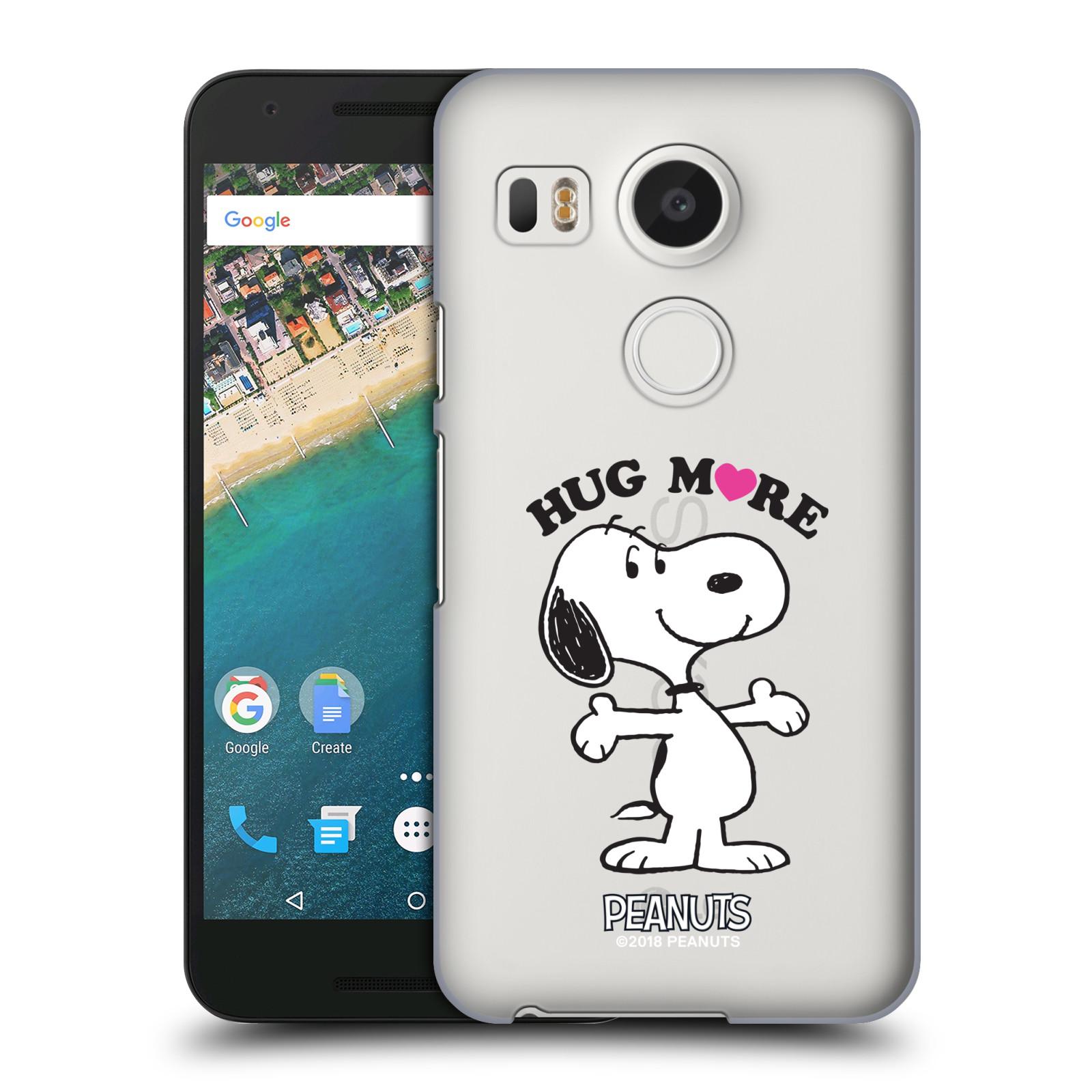 Pouzdro na mobil LG NEXUS 5X Oficiální motiv Peanuts pejsek Snoopy srdíčko