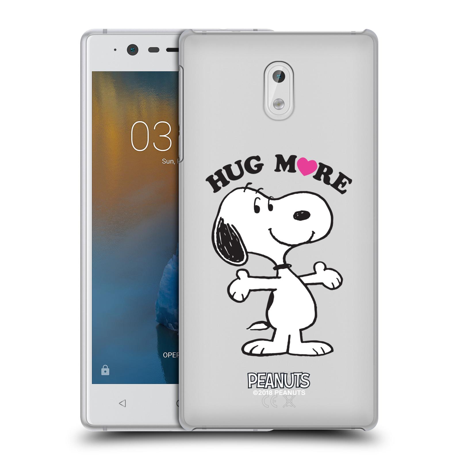 Pouzdro na mobil Nokia 3 Oficiální motiv Peanuts pejsek Snoopy srdíčko
