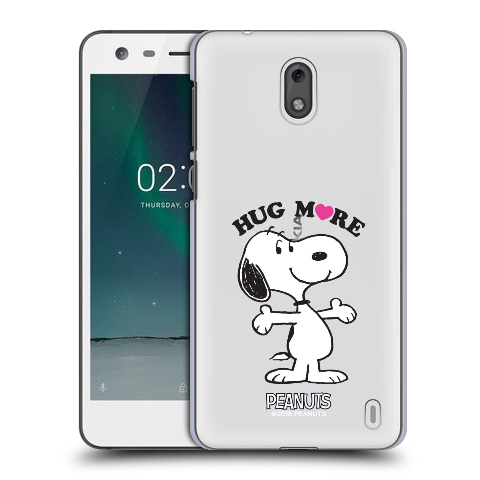 Pouzdro na mobil Nokia 2 Oficiální motiv Peanuts pejsek Snoopy srdíčko