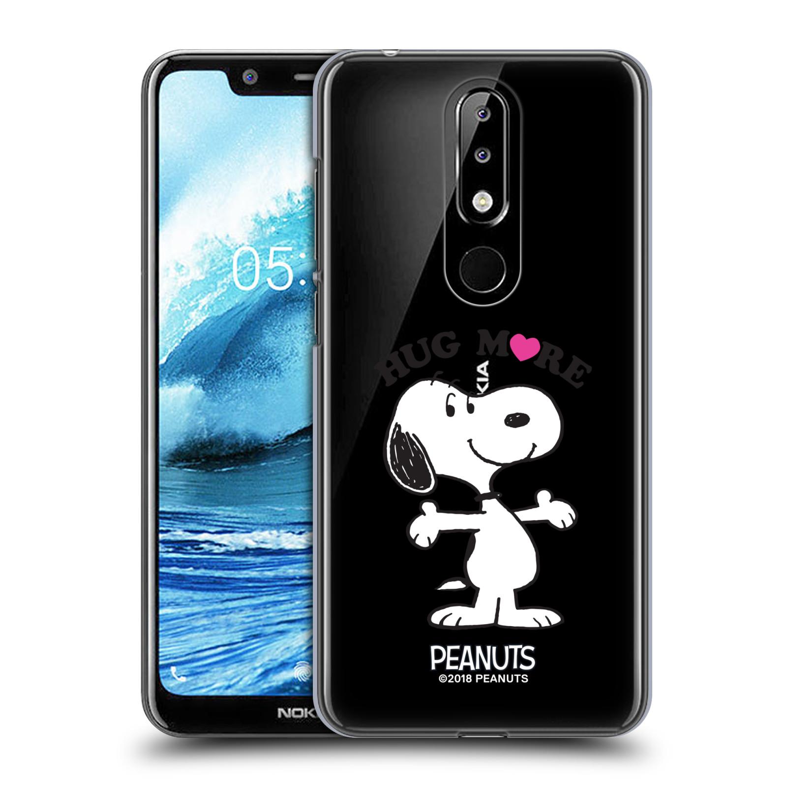 Pouzdro na mobil Nokia 5.1 PLUS Oficiální motiv Peanuts pejsek Snoopy srdíčko