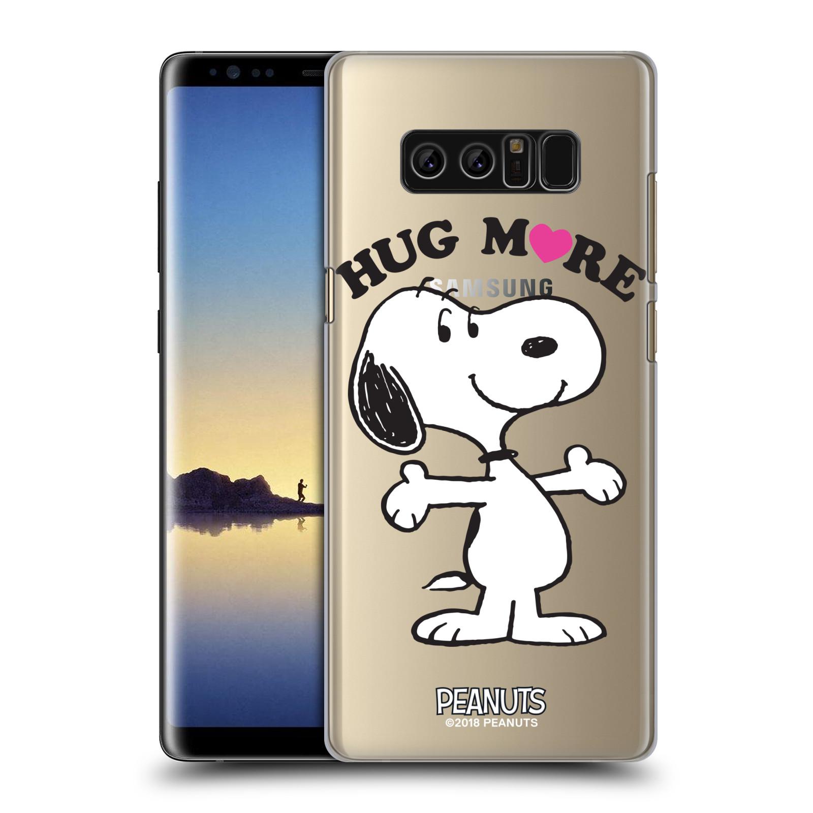 Pouzdro na mobil Samsung Galaxy Note 8 Oficiální motiv Peanuts pejsek Snoopy srdíčko