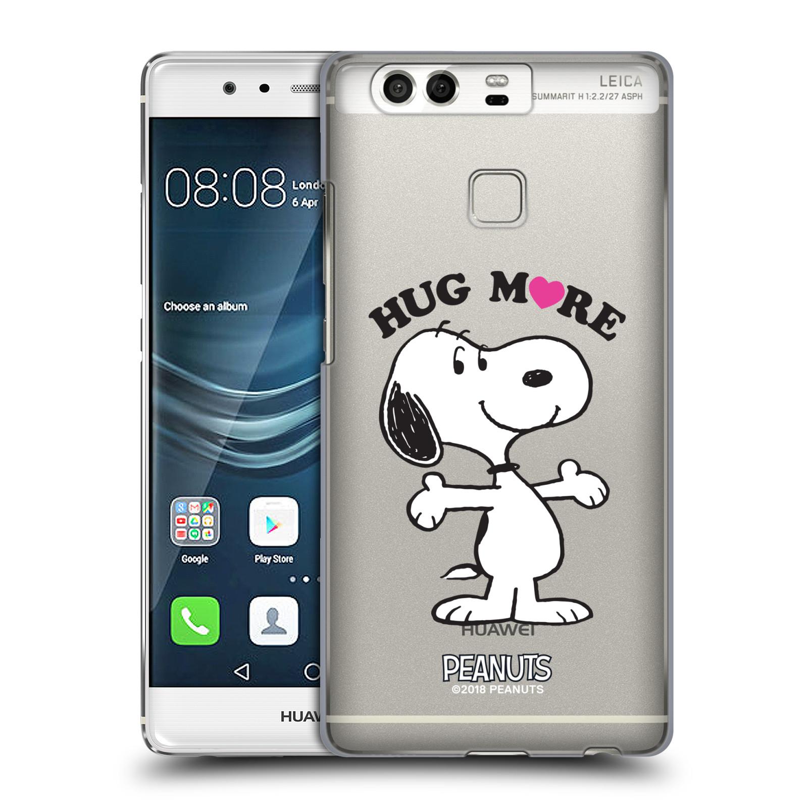 Pouzdro na mobil Huawei P9 / P9 DUAL SIM Oficiální motiv Peanuts pejsek Snoopy srdíčko