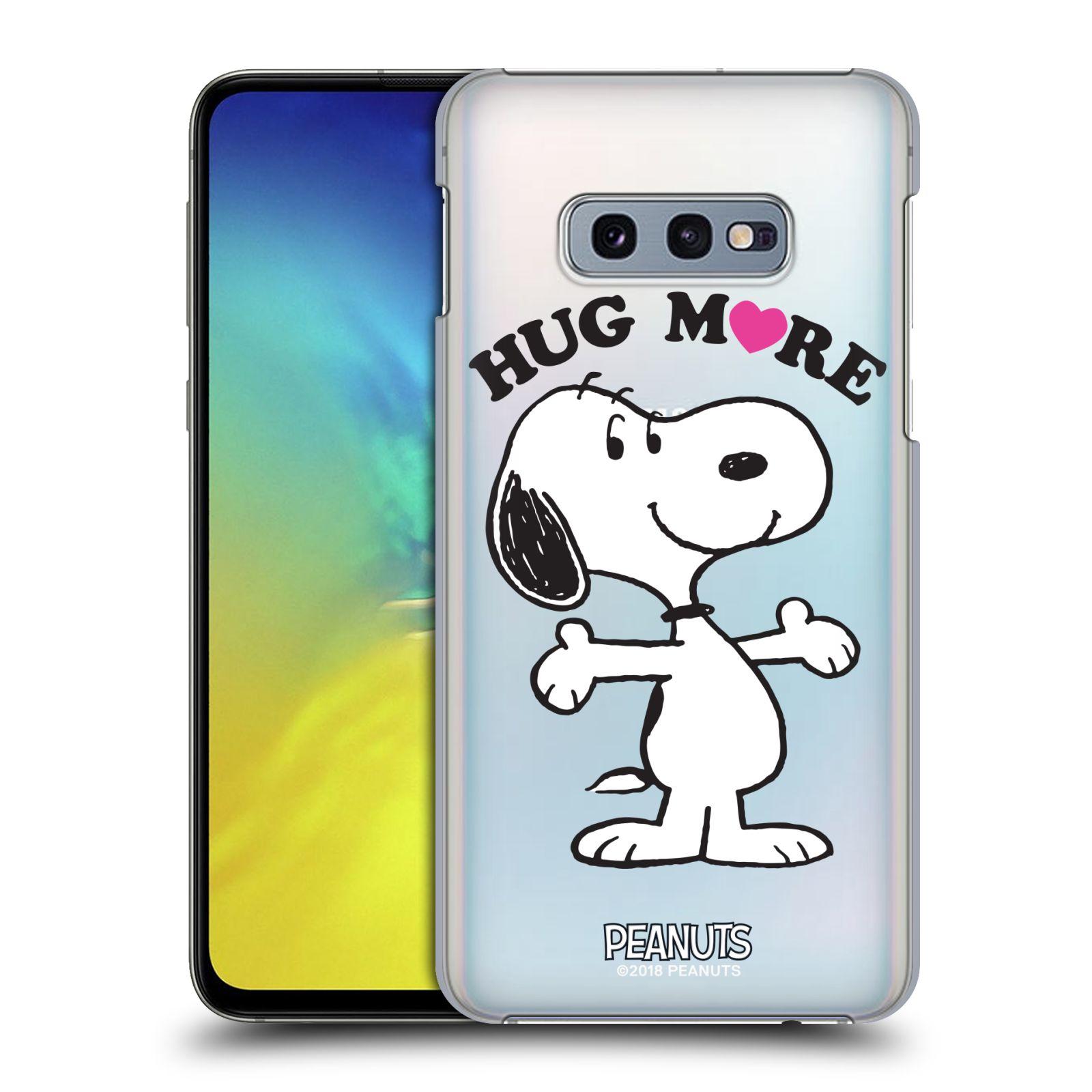 Pouzdro na mobil Samsung Galaxy S10e Oficiální motiv Peanuts pejsek Snoopy srdíčko