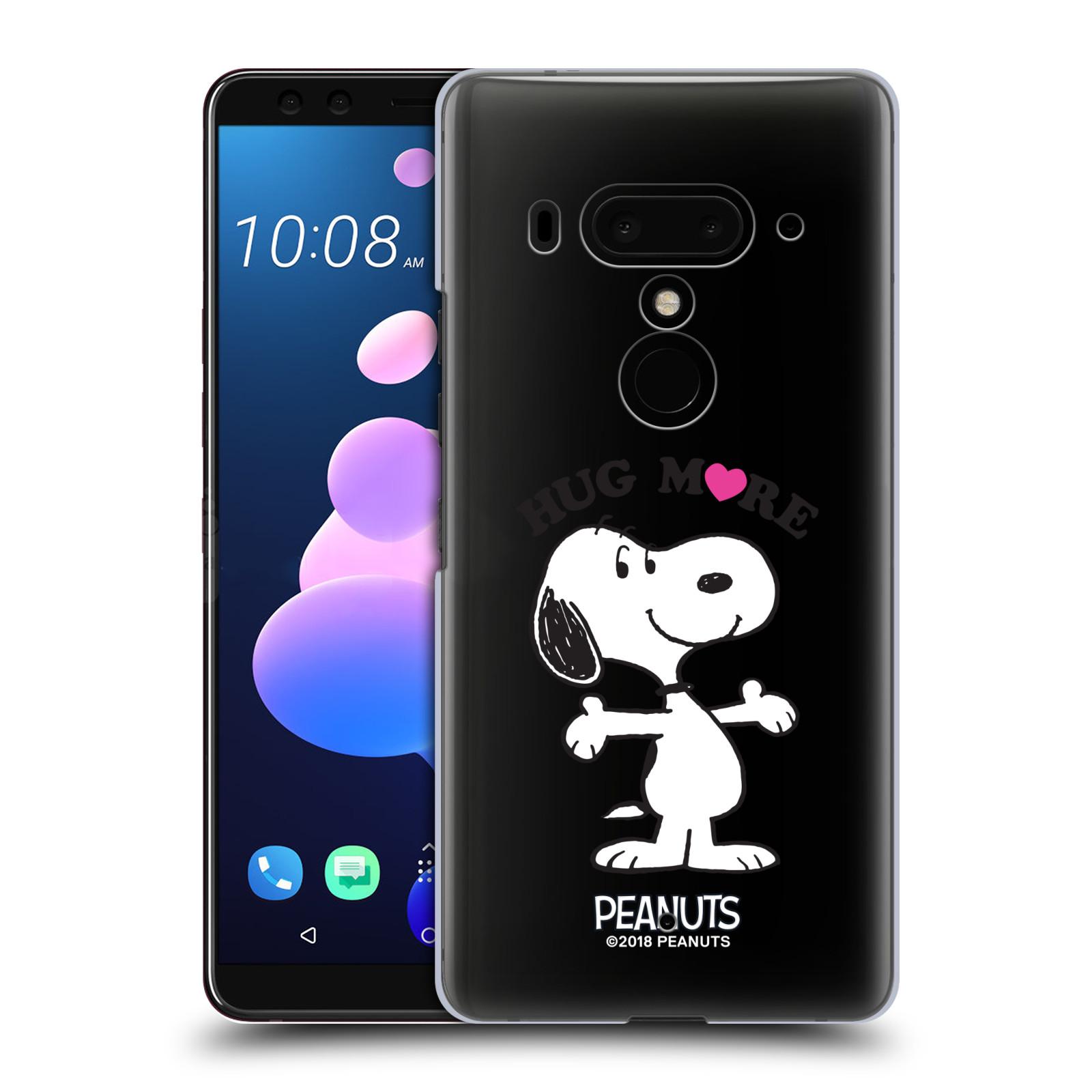 Pouzdro na mobil HTC U 12 PLUS / U 12+ DUAL SIM Oficiální motiv Peanuts pejsek Snoopy srdíčko