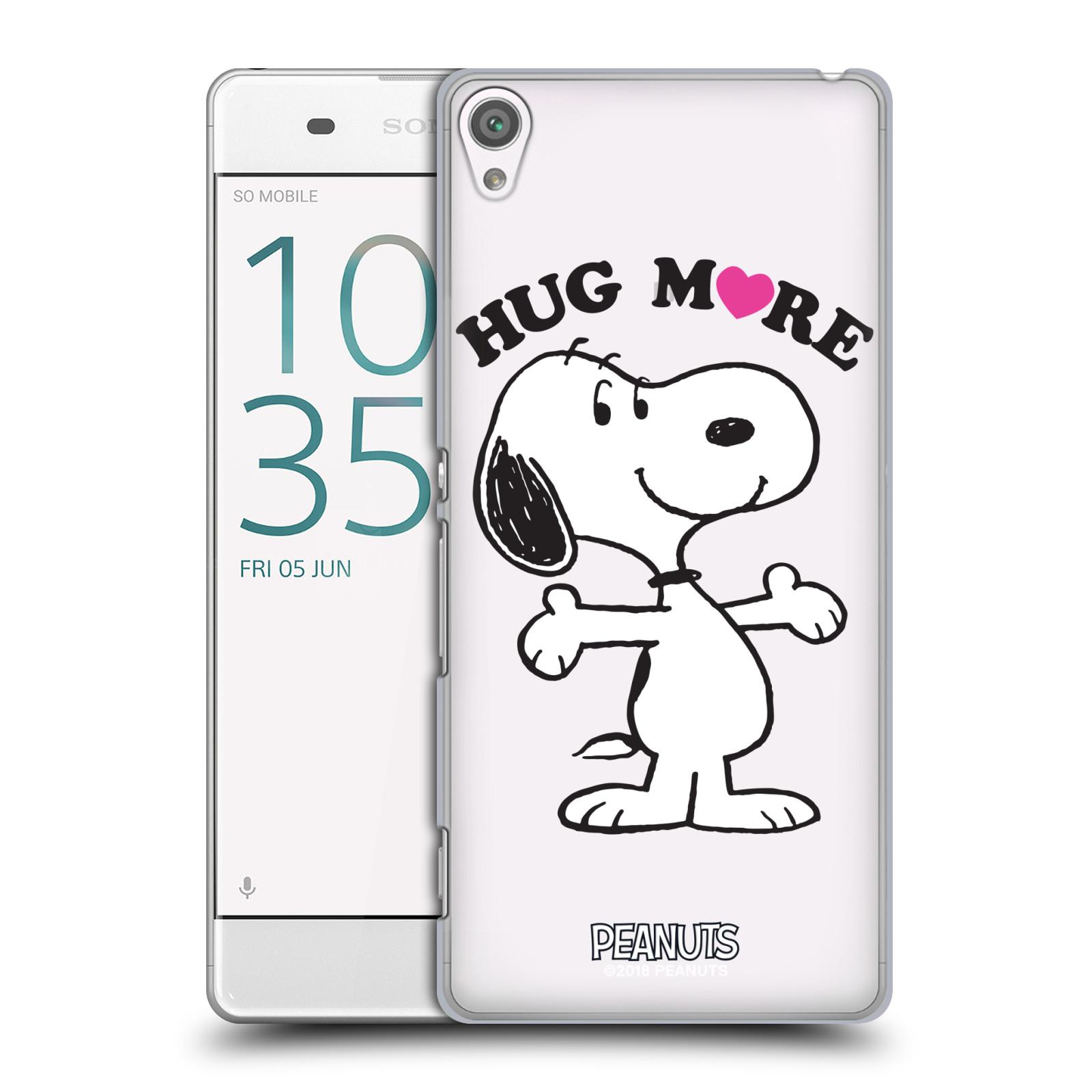 Pouzdro na mobil Sony Xperia XA Oficiální motiv Peanuts pejsek Snoopy srdíčko