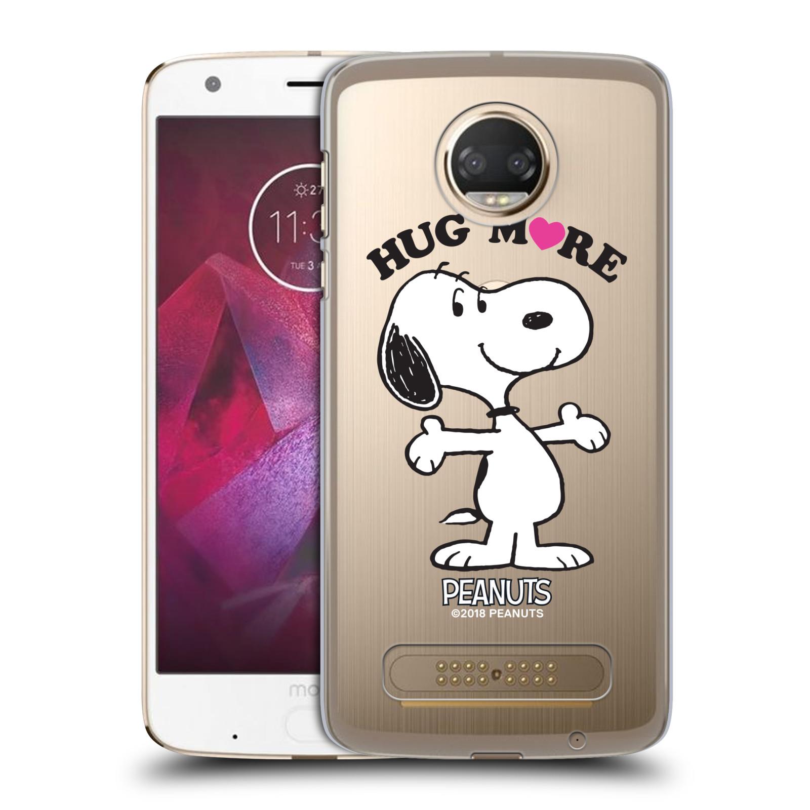 Pouzdro na mobil Motorola Moto Z2 PLAY Oficiální motiv Peanuts pejsek Snoopy srdíčko