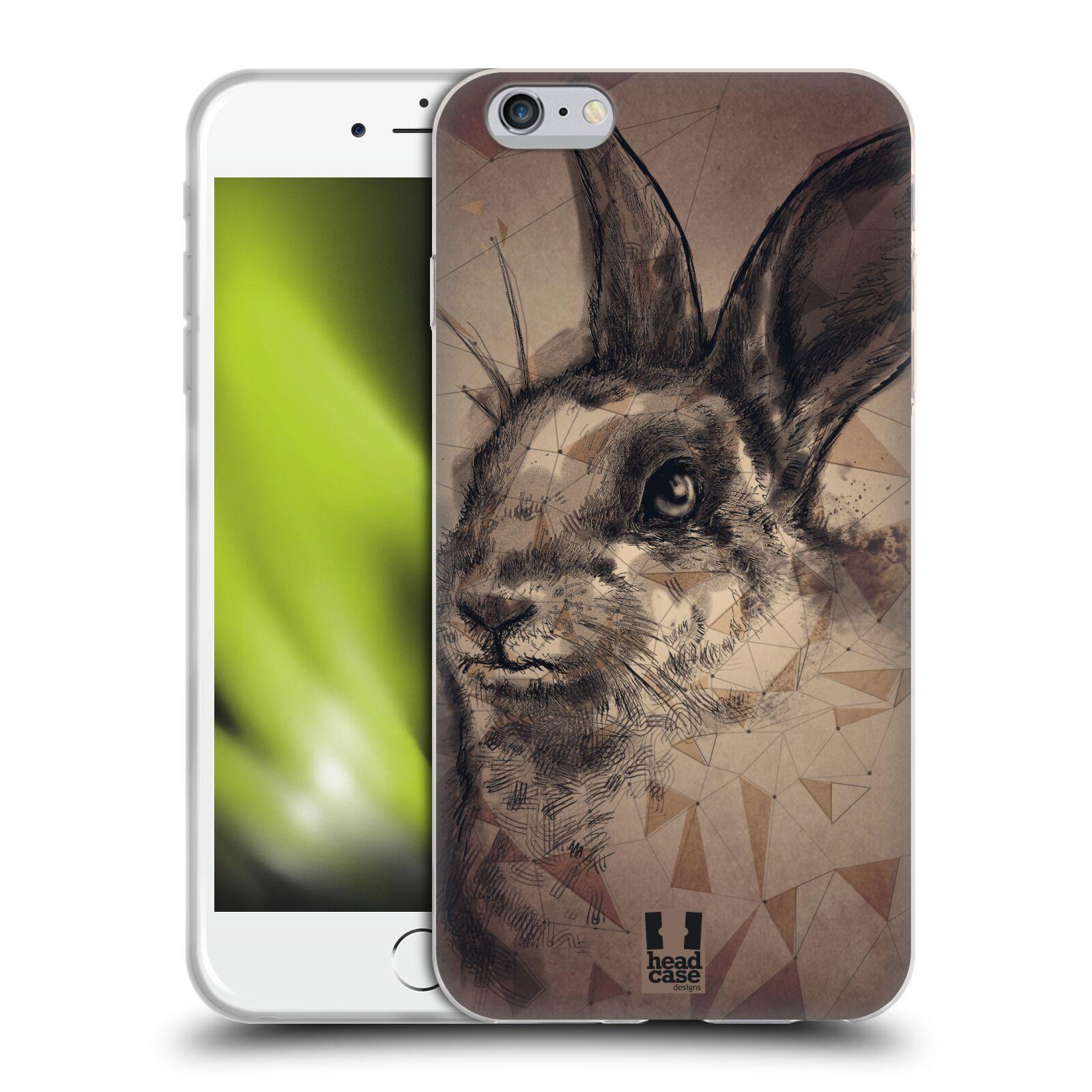 HEAD CASE silikonový obal na mobil Apple Iphone 6 PLUS/ 6S PLUS vzor Skica zvíře kreslené zajíc