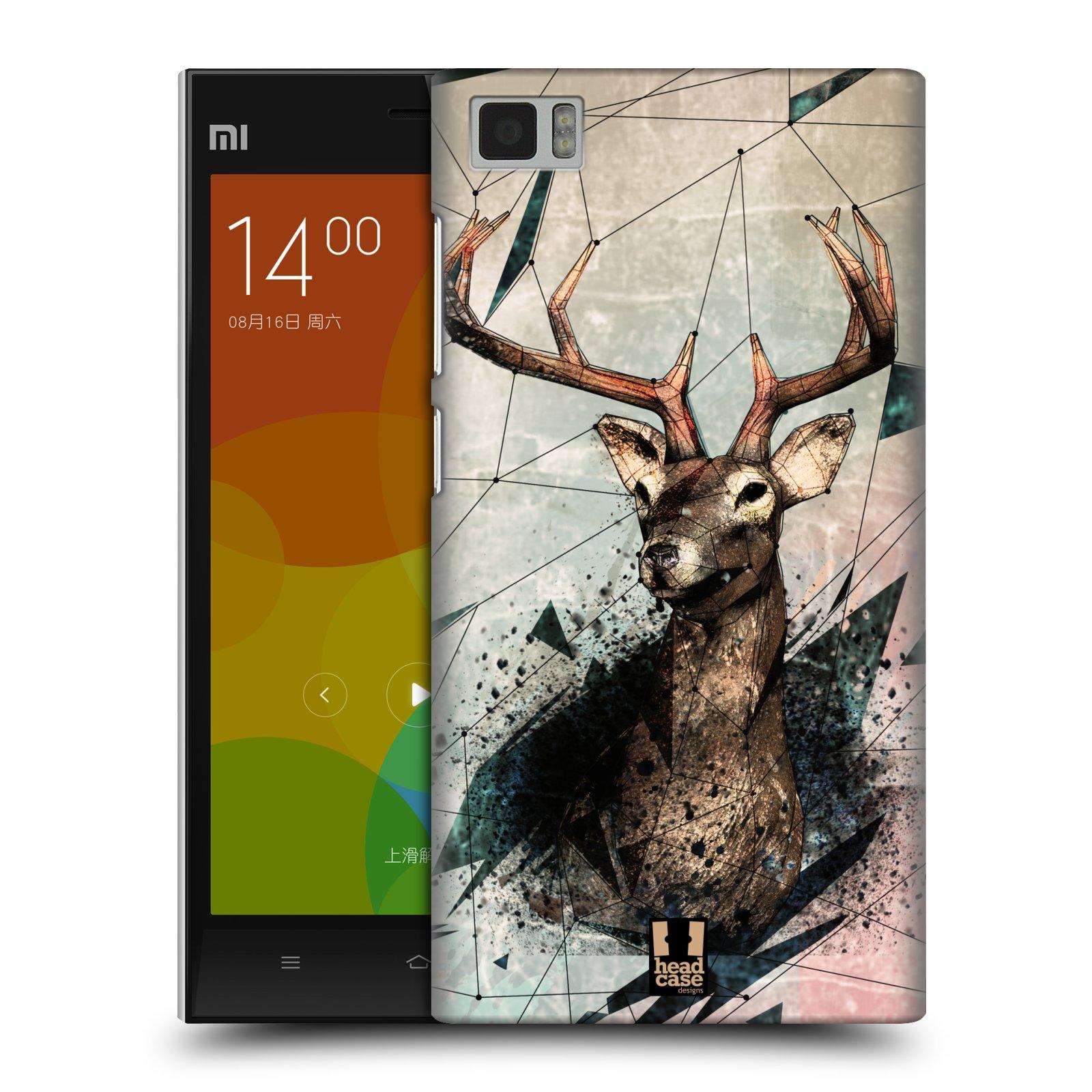 Plastové pouzdro na mobil Xiaomi Mi3 HEAD CASE POLYSKETCH JELEN (Kryt či obal na mobilní telefon Xiaomi Mi3)