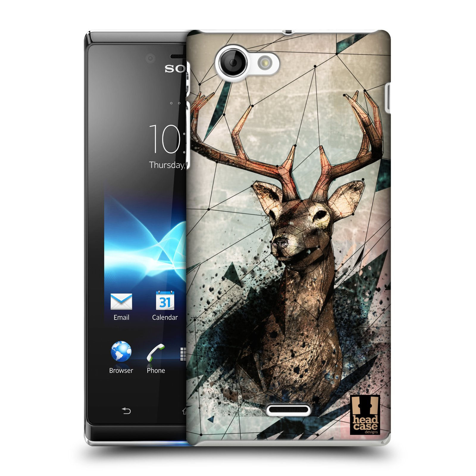 HEAD CASE DESIGNS POLY SKETCH CASE COVER FOR SONY XPERIA J ST26i