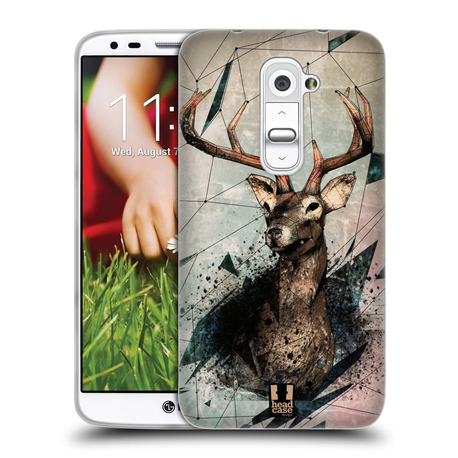 HEAD CASE silikonový obal na mobil LG G2 vzor Skica zvíře kreslené jelen