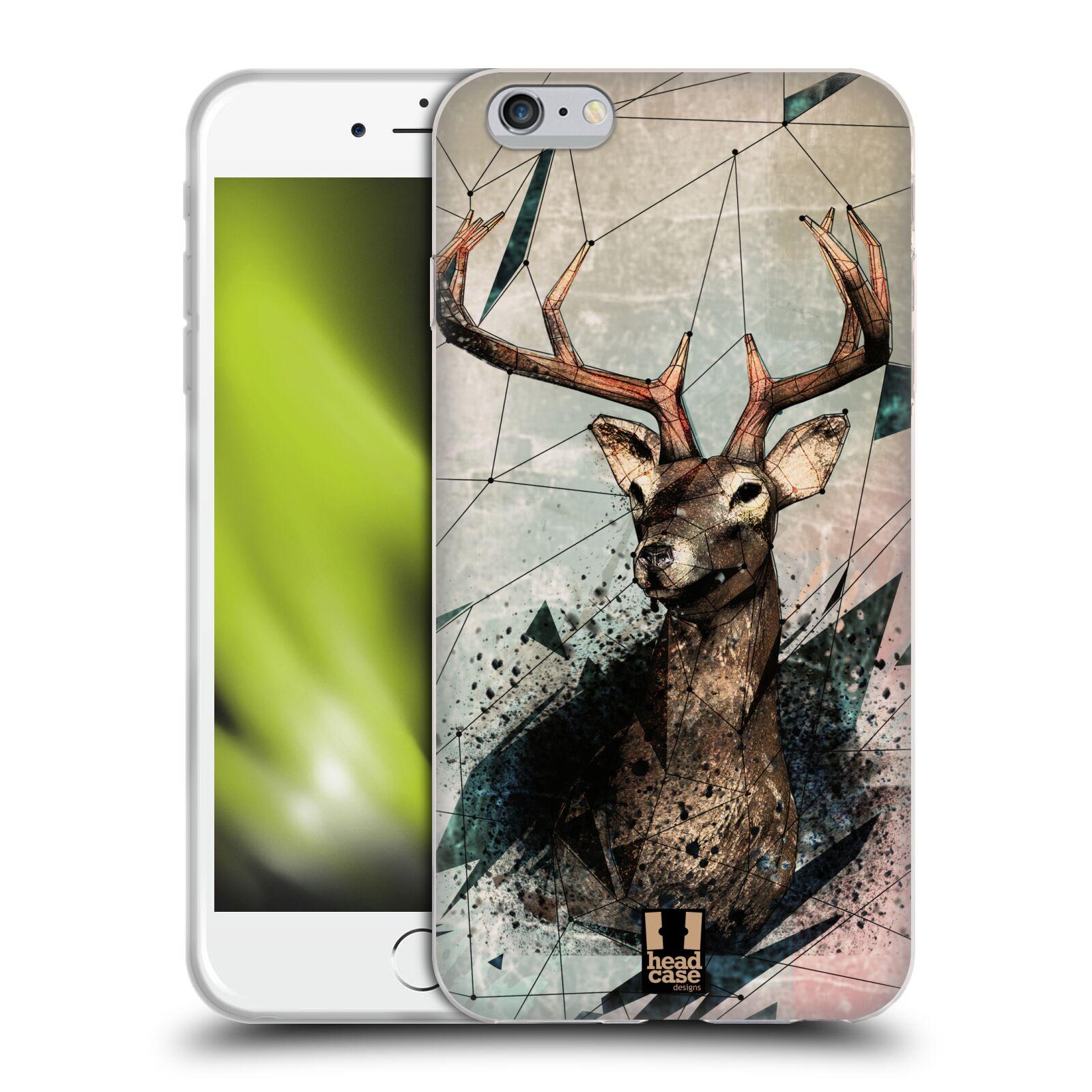 HEAD CASE silikonový obal na mobil Apple Iphone 6 PLUS/ 6S PLUS vzor Skica zvíře kreslené jelen