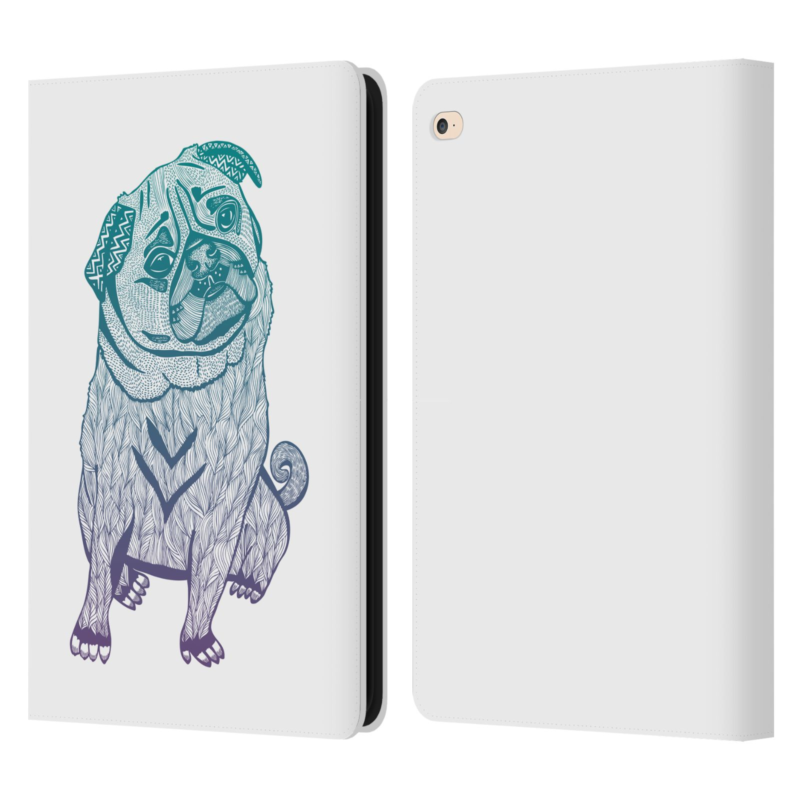 Official pom graphic design animals leather book wallet for Apple design book