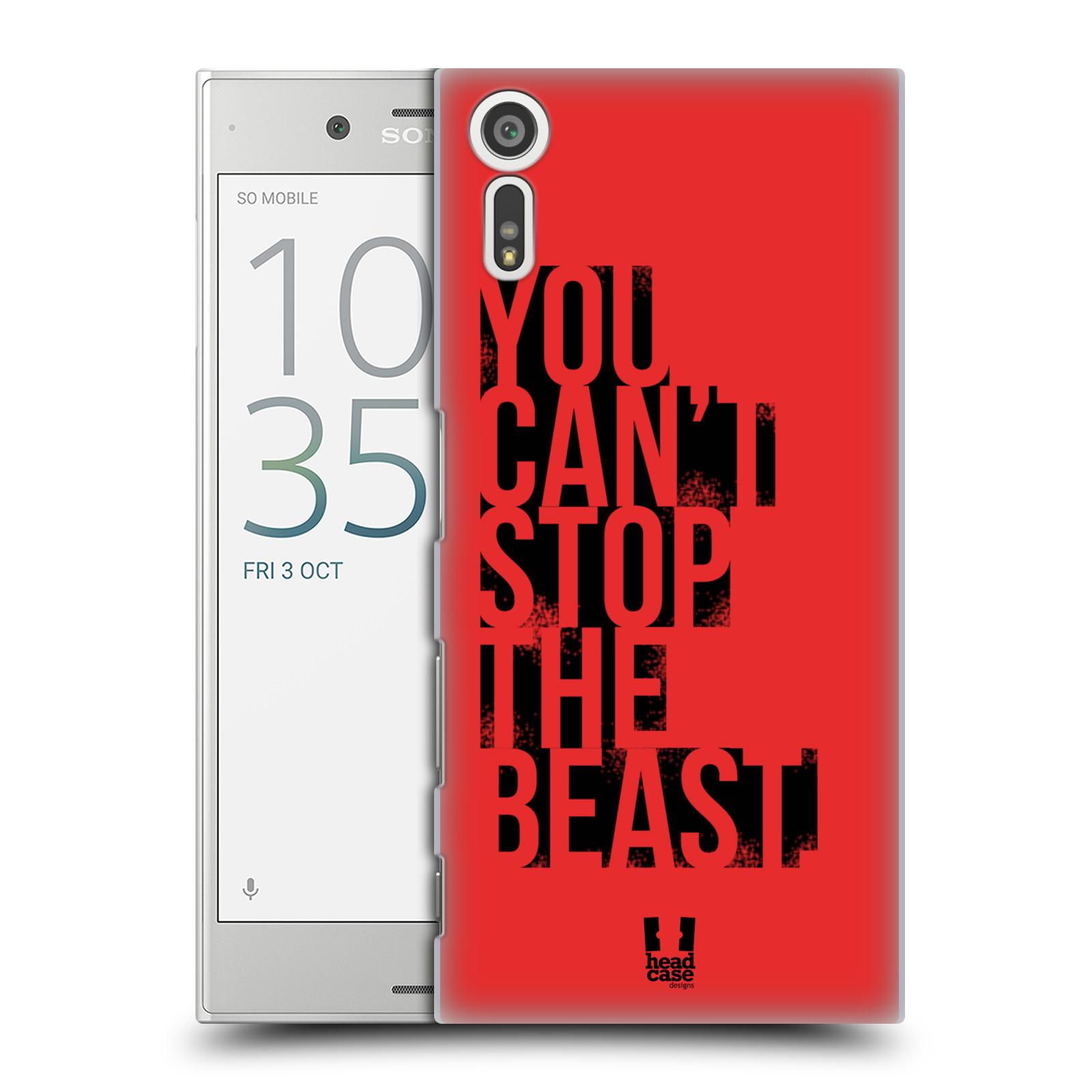 HEAD CASE plastový obal na mobil Sony Xperia XZ Sportovní tématika Beast mode červená