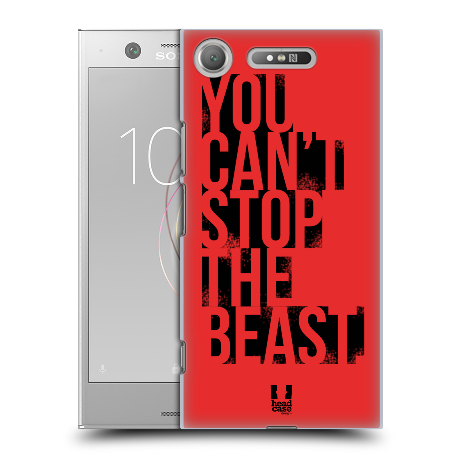 HEAD CASE plastový obal na mobil Sony Xperia XZ1 Sportovní tématika Beast mode červená