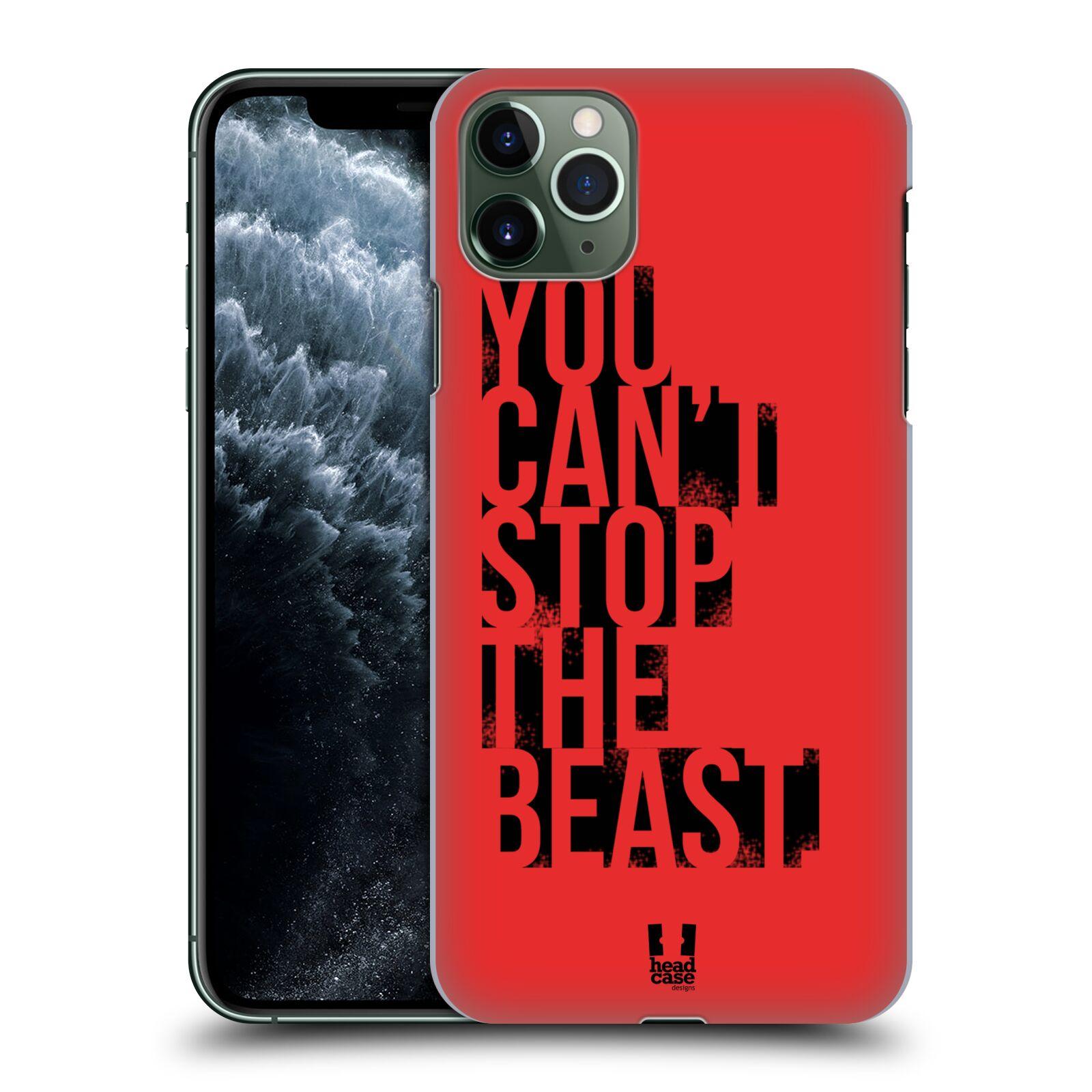 Pouzdro na mobil Apple Iphone 11 PRO MAX - HEAD CASE - Sportovní tématika Beast mode červená