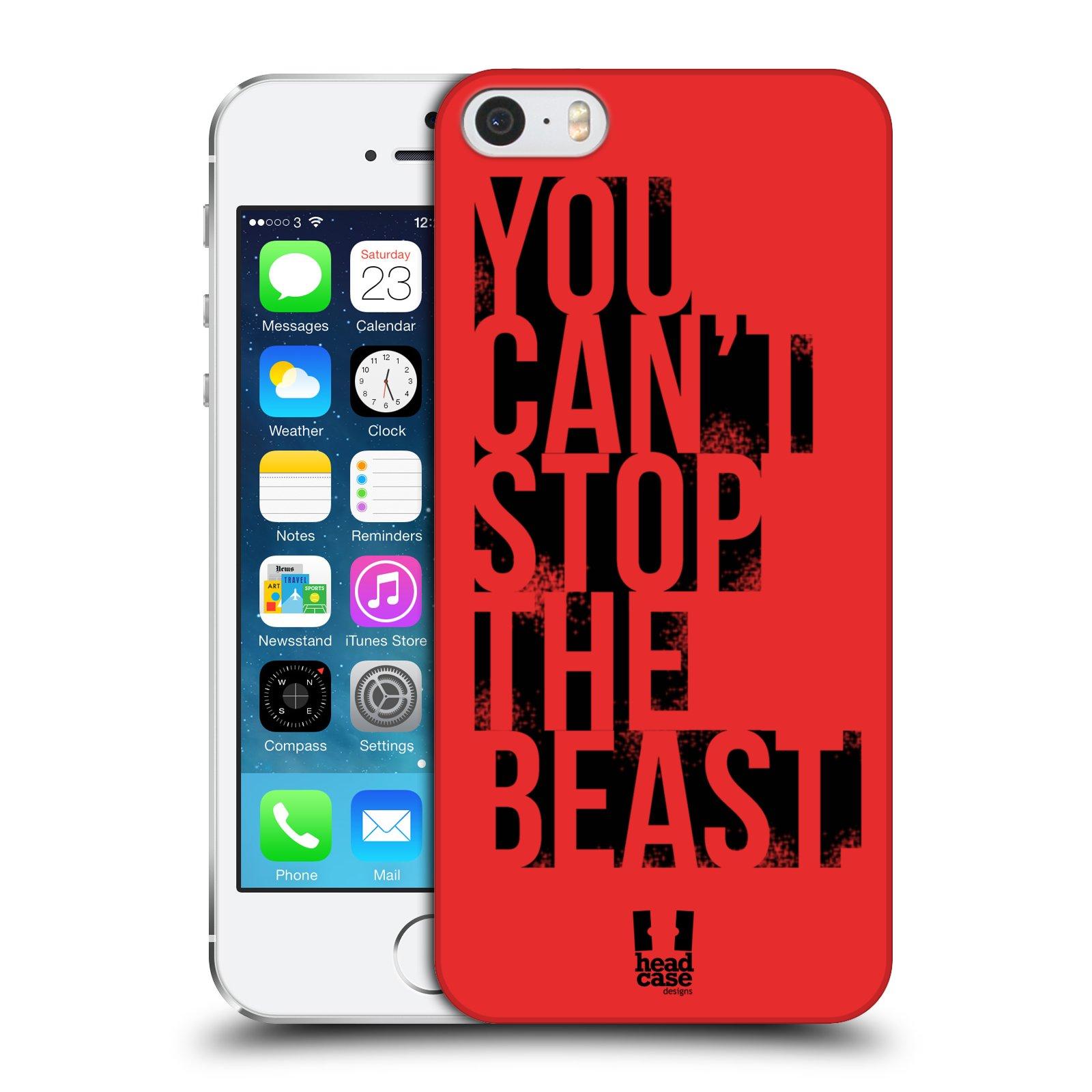 Plastové pouzdro pro mobil Apple Iphone 5 / 5S / SE Sportovní tématika Beast mode červená