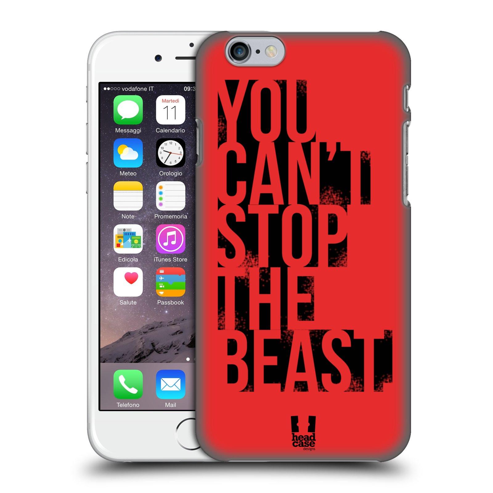 Plastové pouzdro pro mobil Apple Iphone 6/6S Sportovní tématika Beast mode červená