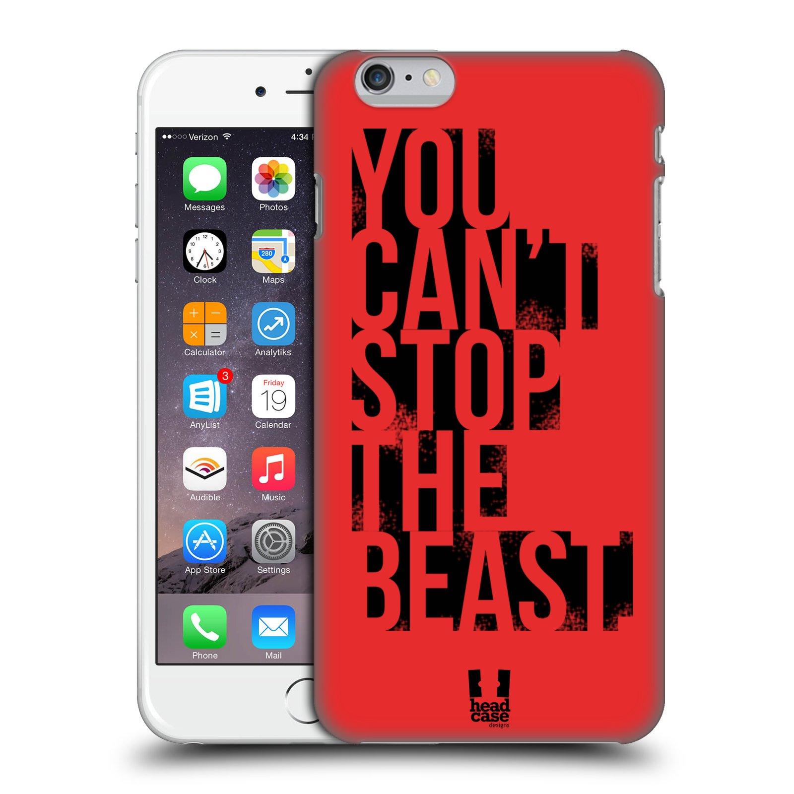 Plastové pouzdro pro mobil Apple Iphone 6 PLUS / 6S PLUS Sportovní tématika Beast mode červená