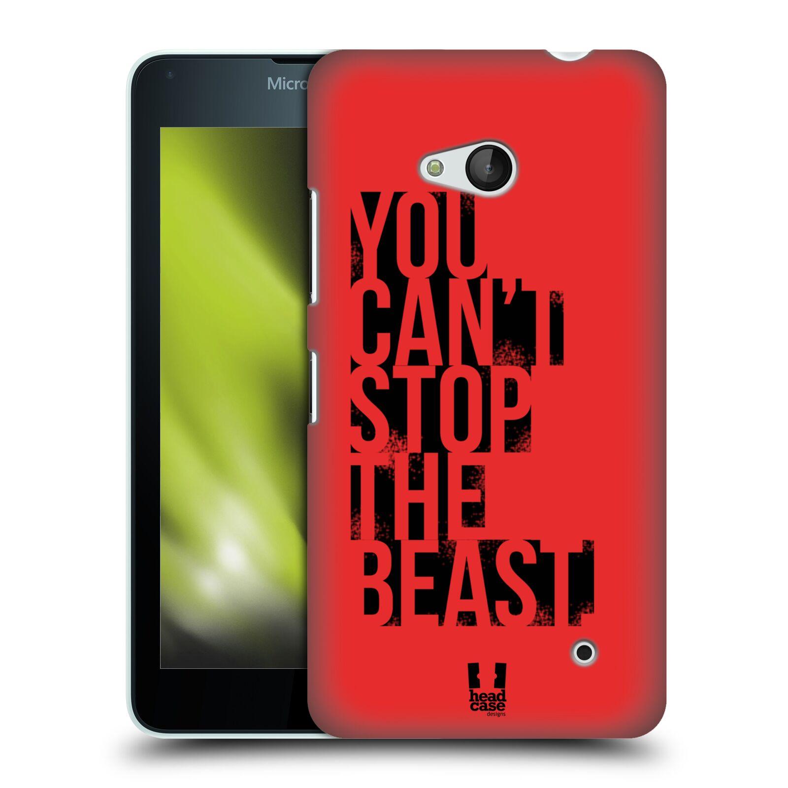 HEAD CASE plastový obal na mobil Nokia Lumia 640 Sportovní tématika Beast mode červená