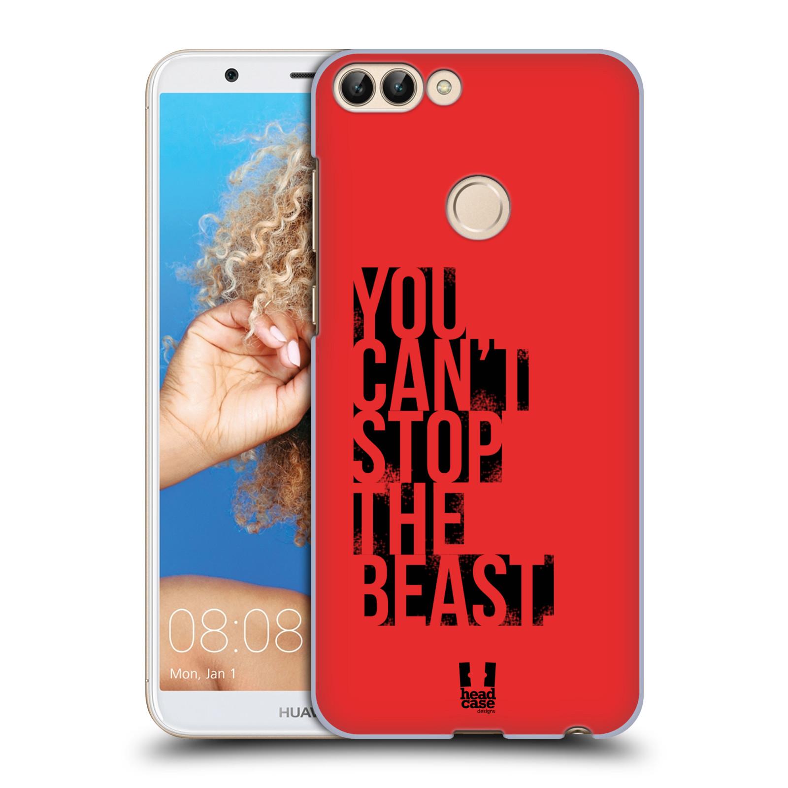HEAD CASE plastový obal na mobil Huawei P Smart Sportovní tématika Beast mode červená