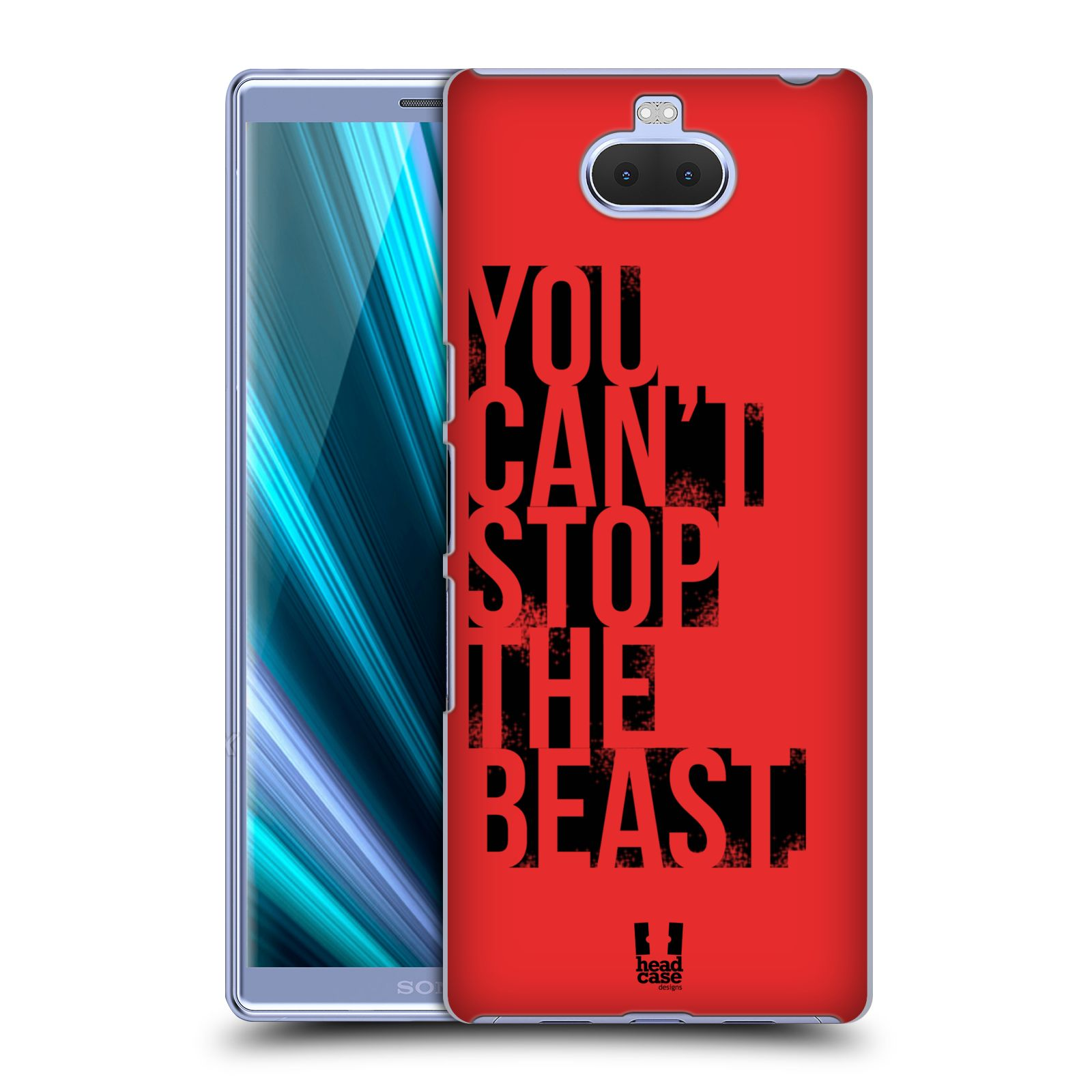 Pouzdro na mobil Sony Xperia 10 - Head Case - Sportovní tématika Beast mode červená