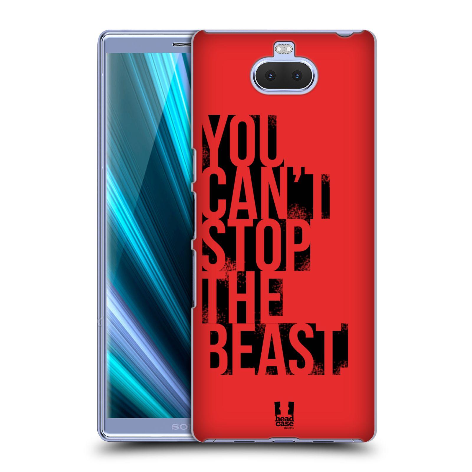 Pouzdro na mobil Sony Xperia 10 Plus - Head Case - Sportovní tématika Beast mode červená