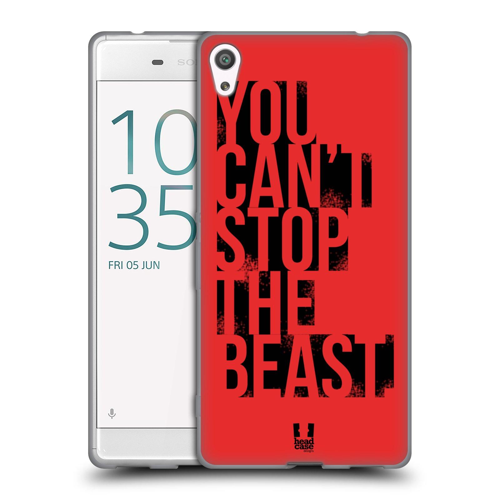 HEAD CASE silikonový obal na mobil Sony Xperia XA ULTRA Sportovní tématika Beast mode červená