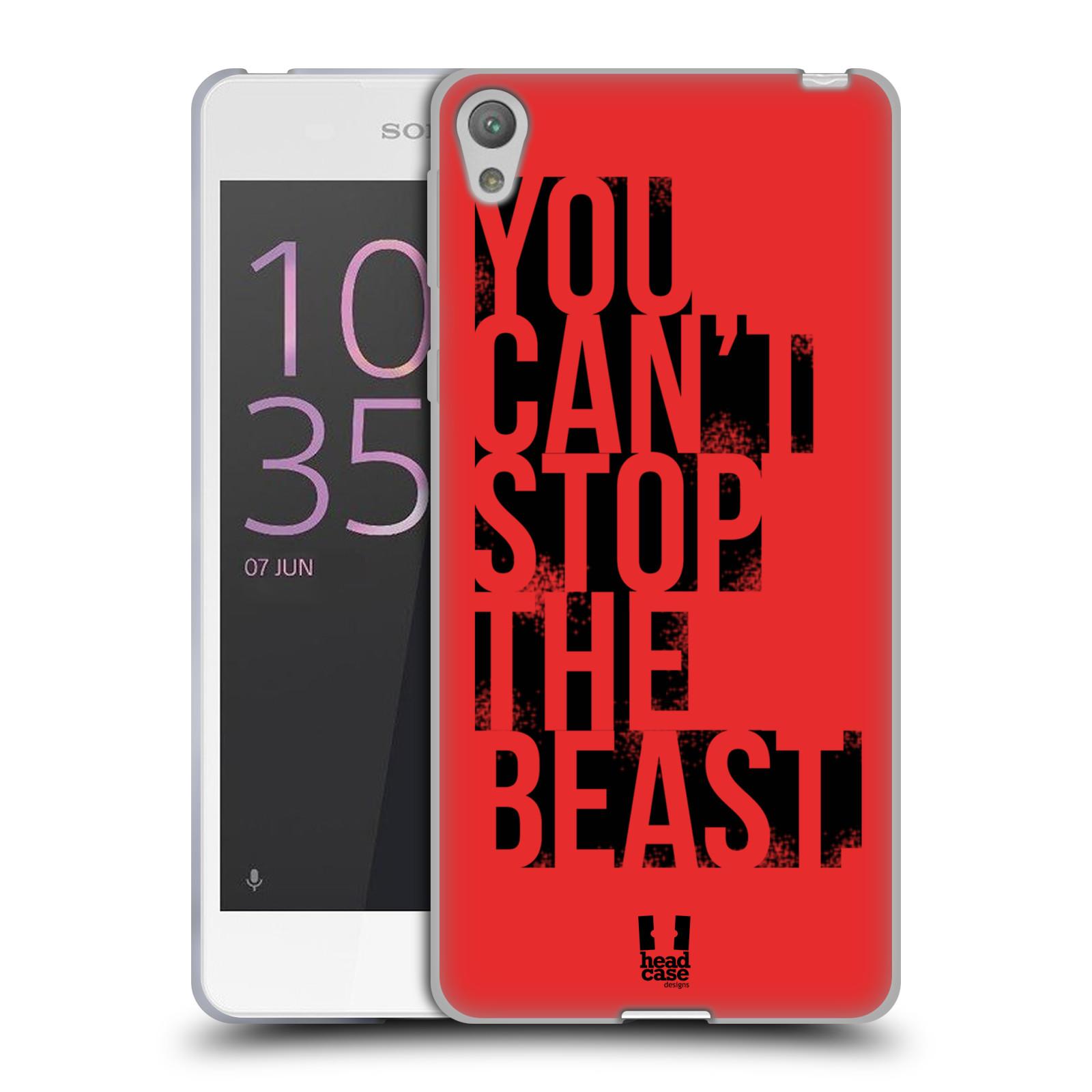 HEAD CASE silikonový obal na mobil Sony Xperia E5 Sportovní tématika Beast mode červená