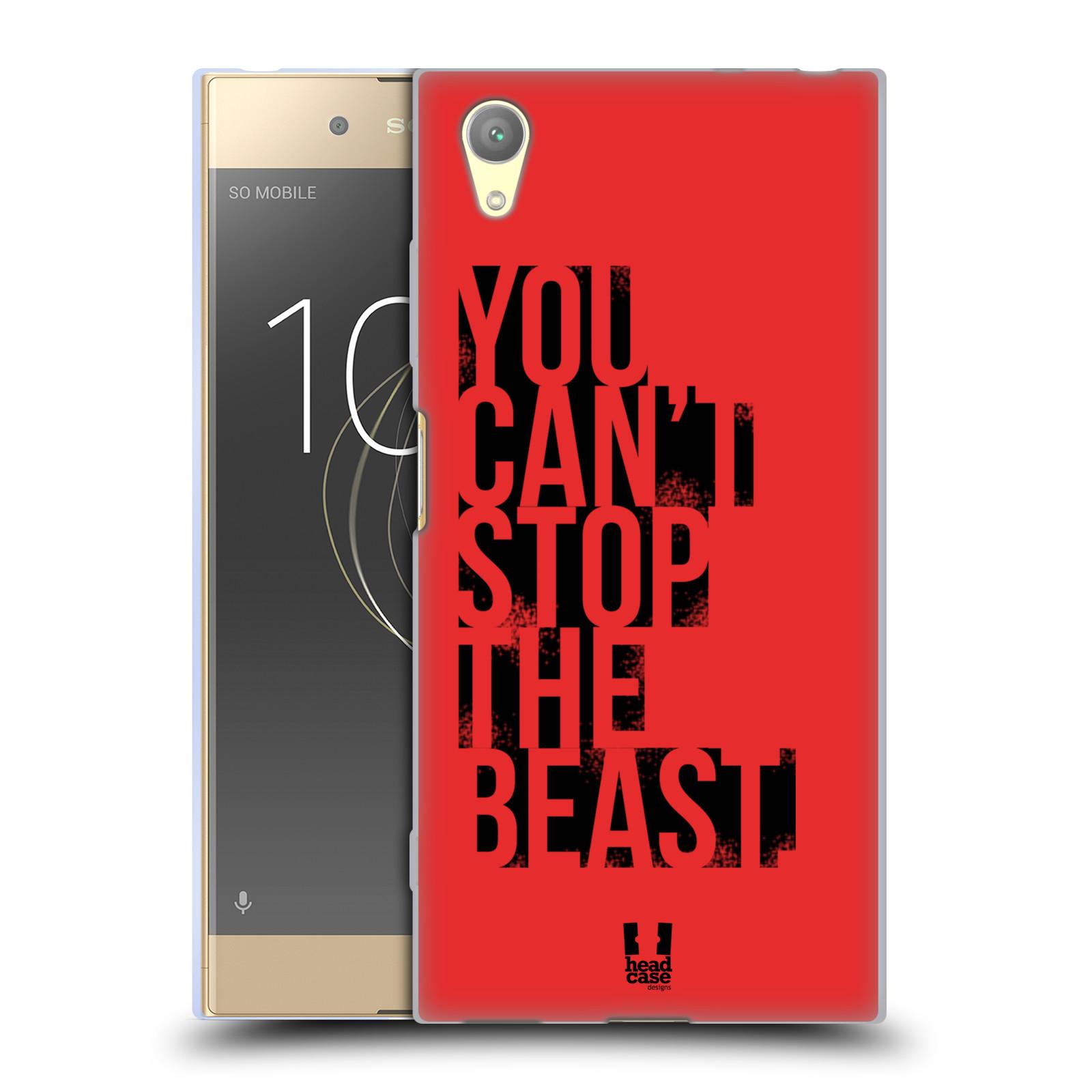 HEAD CASE silikonový obal na mobil Sony Xperia XA1 PLUS Sportovní tématika Beast mode červená