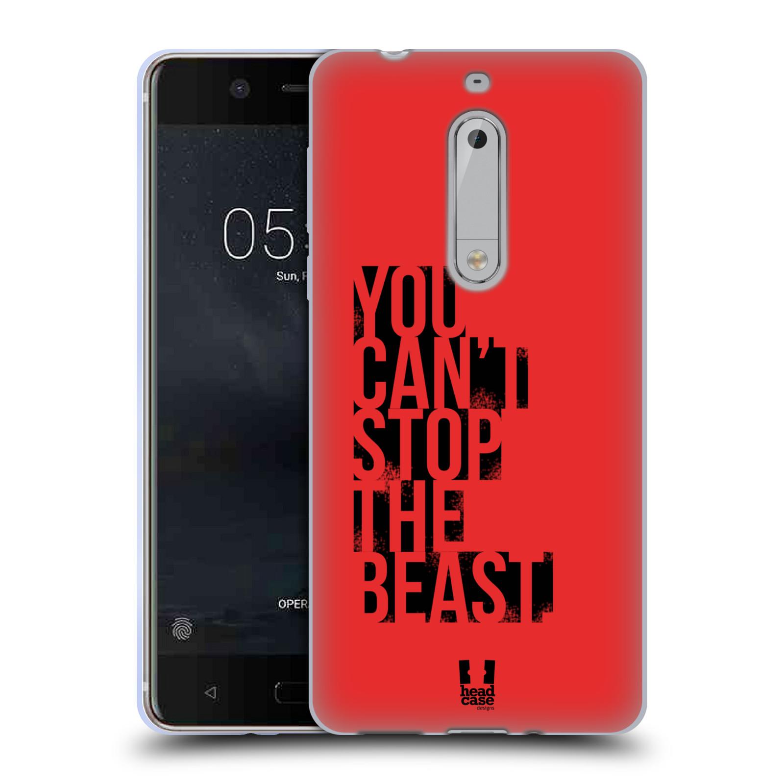 HEAD CASE silikonový obal na mobil Nokia 5 Sportovní tématika Beast mode červená