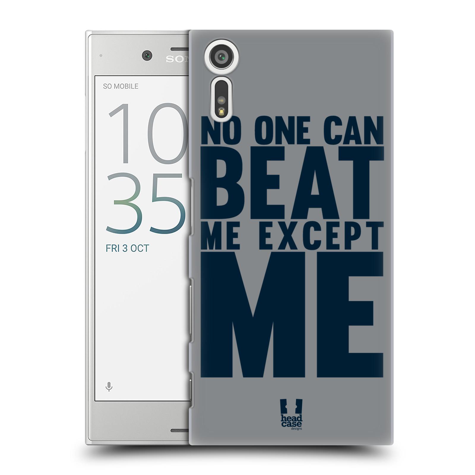 HEAD CASE plastový obal na mobil Sony Xperia XZ Sportovní tématika síla vůle Beat ME