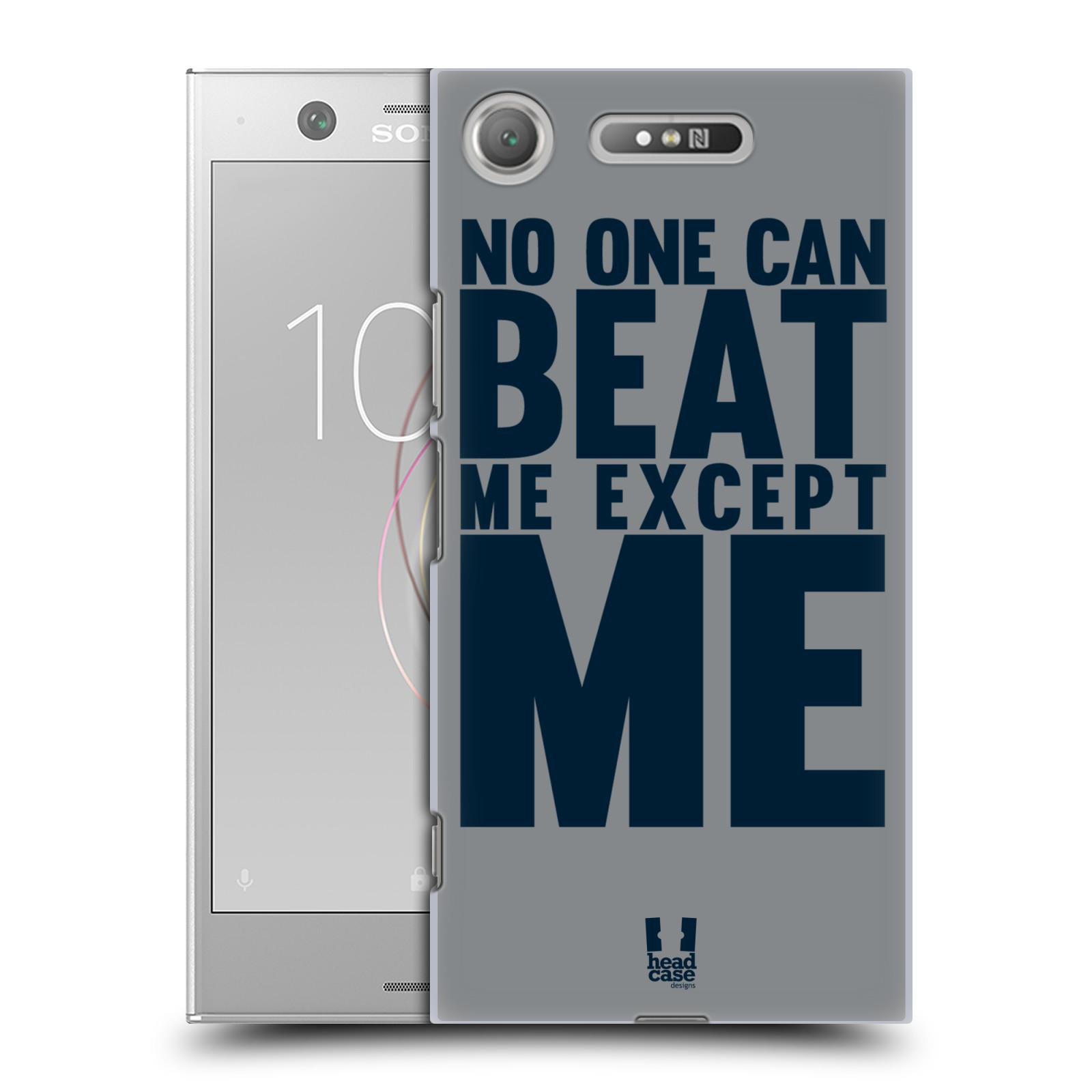 HEAD CASE plastový obal na mobil Sony Xperia XZ1 Sportovní tématika síla vůle Beat ME