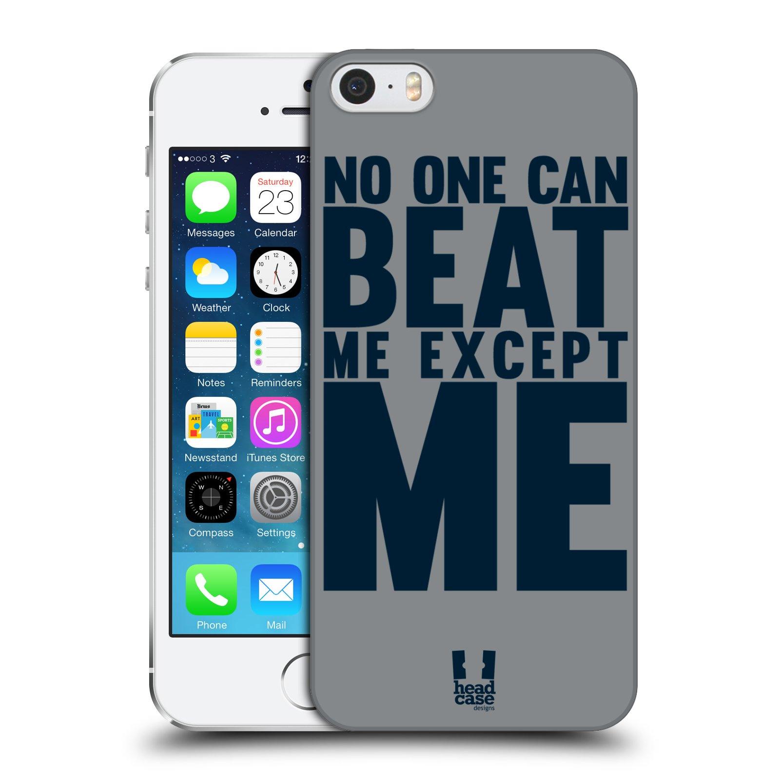 Plastové pouzdro pro mobil Apple Iphone 5 / 5S / SE Sportovní tématika síla vůle Beat ME