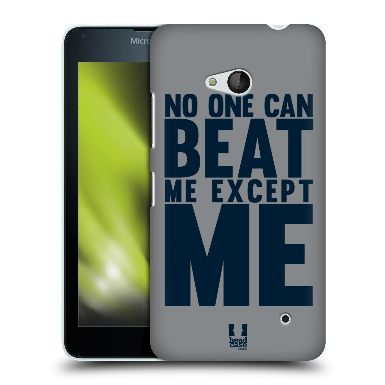 HEAD CASE plastový obal na mobil Nokia Lumia 640 Sportovní tématika síla vůle Beat ME