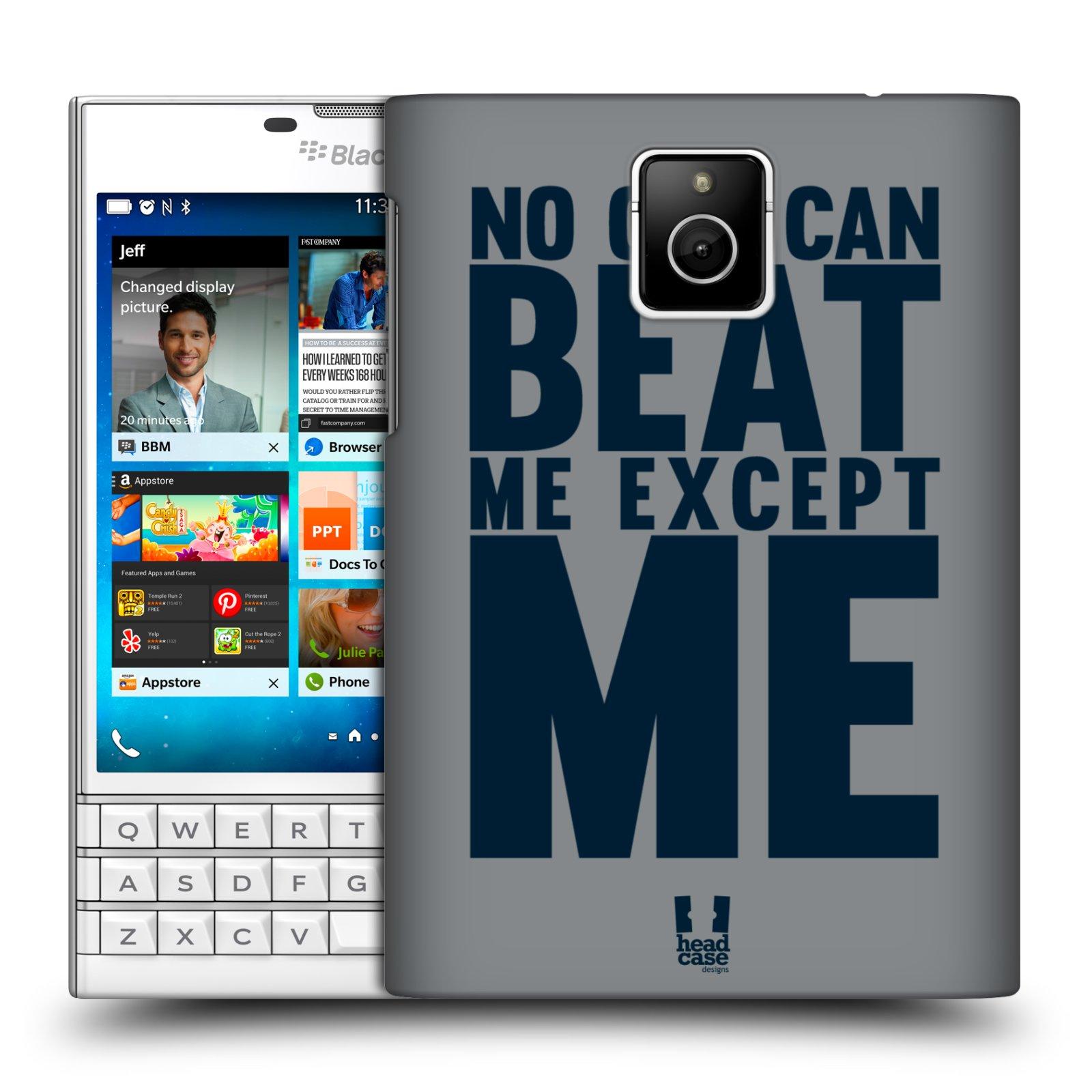 HEAD CASE plastový obal na mobil BlackBerry Passport Sportovní tématika síla vůle Beat ME