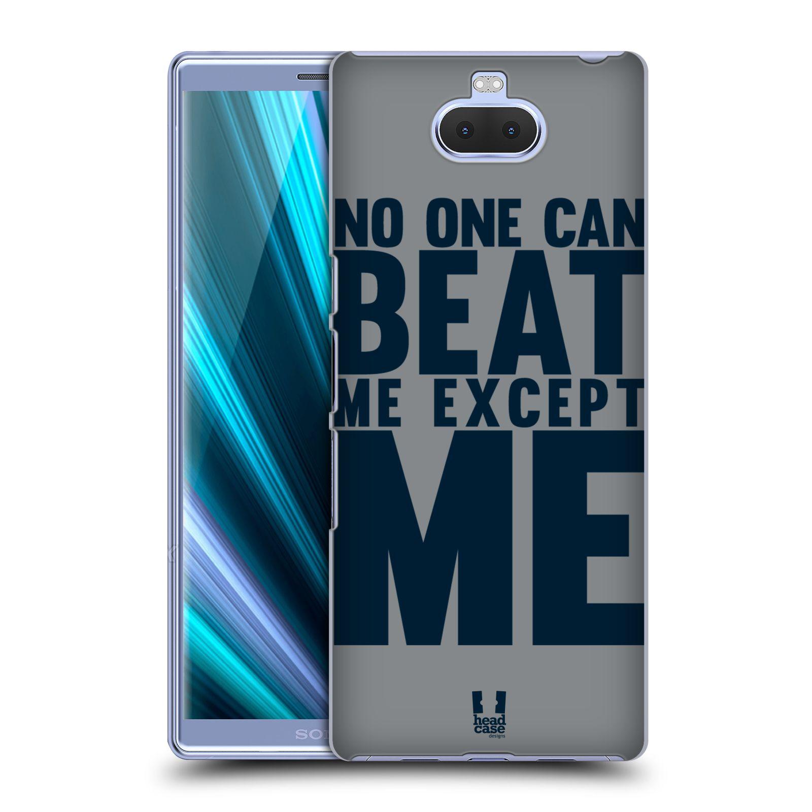 Pouzdro na mobil Sony Xperia 10 Plus - Head Case - Sportovní tématika síla vůle Beat ME