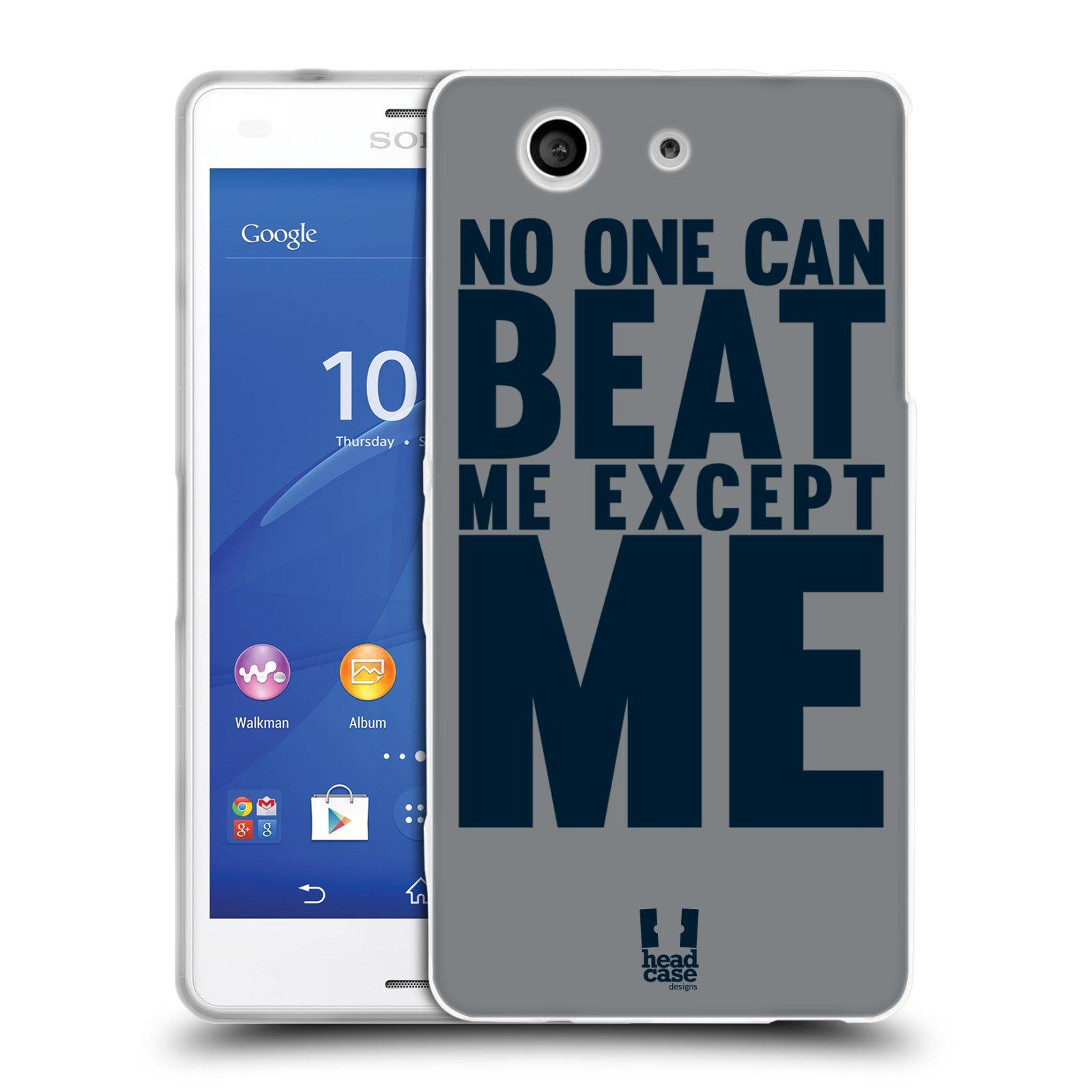 HEAD CASE silikonový obal na mobil Sony Xperia Z3 COMPACT Sportovní tématika síla vůle Beat ME