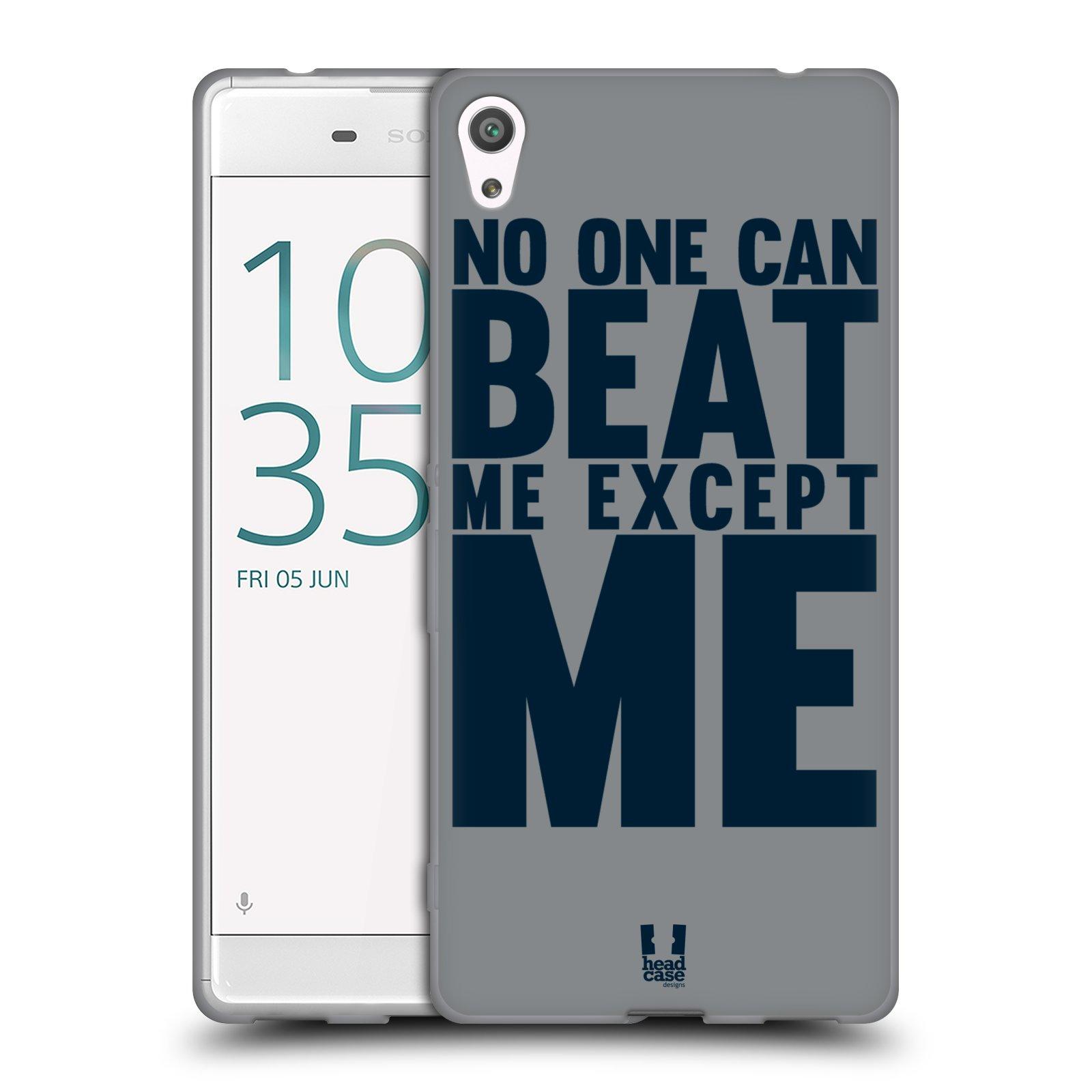 HEAD CASE silikonový obal na mobil Sony Xperia XA ULTRA Sportovní tématika síla vůle Beat ME