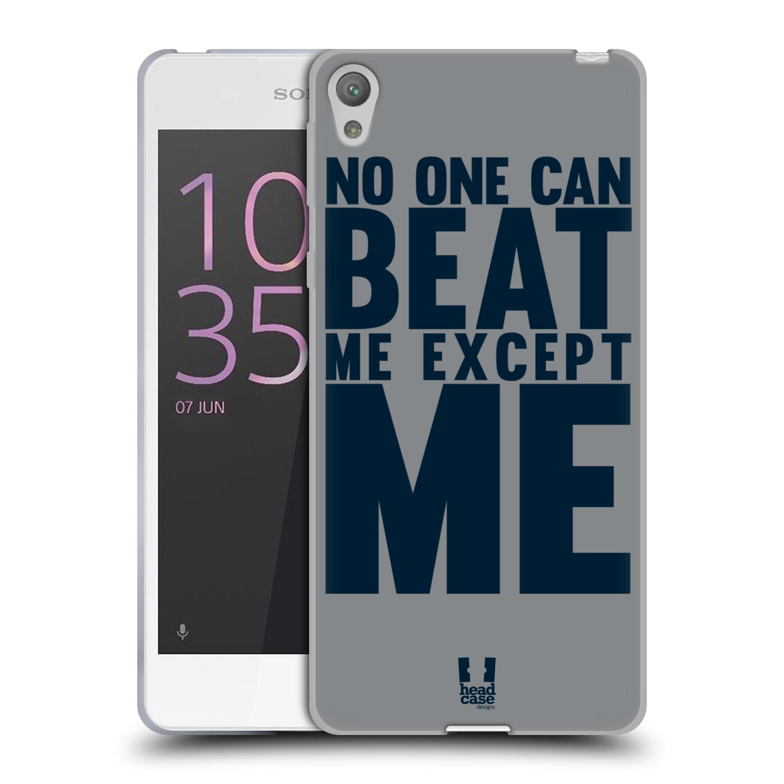 HEAD CASE silikonový obal na mobil Sony Xperia E5 Sportovní tématika síla vůle Beat ME
