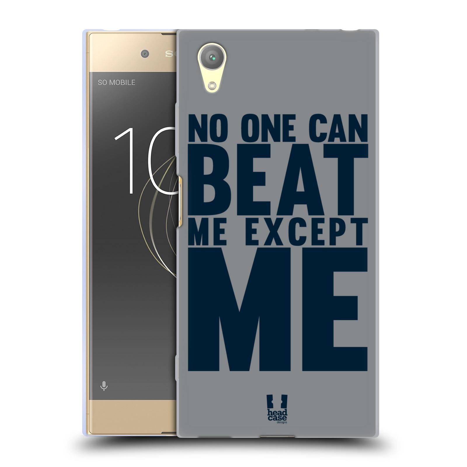 HEAD CASE silikonový obal na mobil Sony Xperia XA1 PLUS Sportovní tématika síla vůle Beat ME