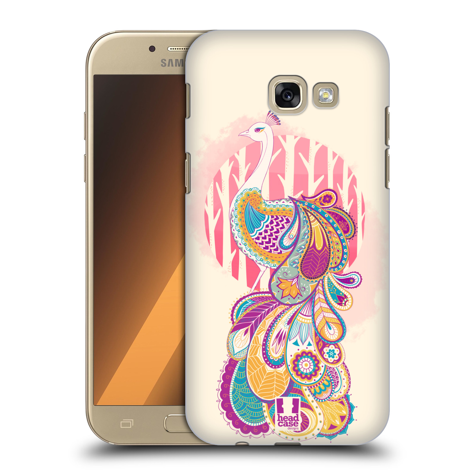 HEAD-CASE-DESIGNS-PAISLEY-PEACOCK-HARD-BACK-CASE-FOR-SAMSUNG-GALAXY-A5-2017
