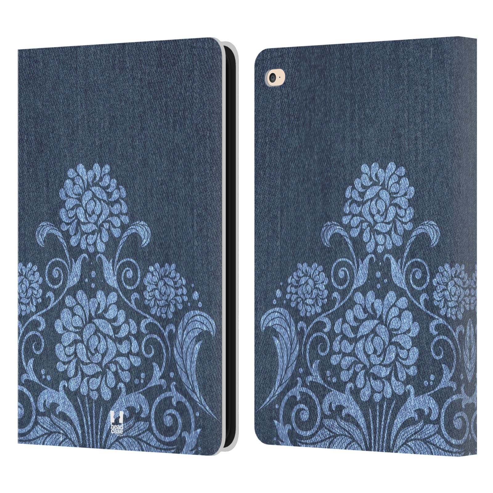 Leather Book Cover Design : Head case designs printed denim leather book wallet