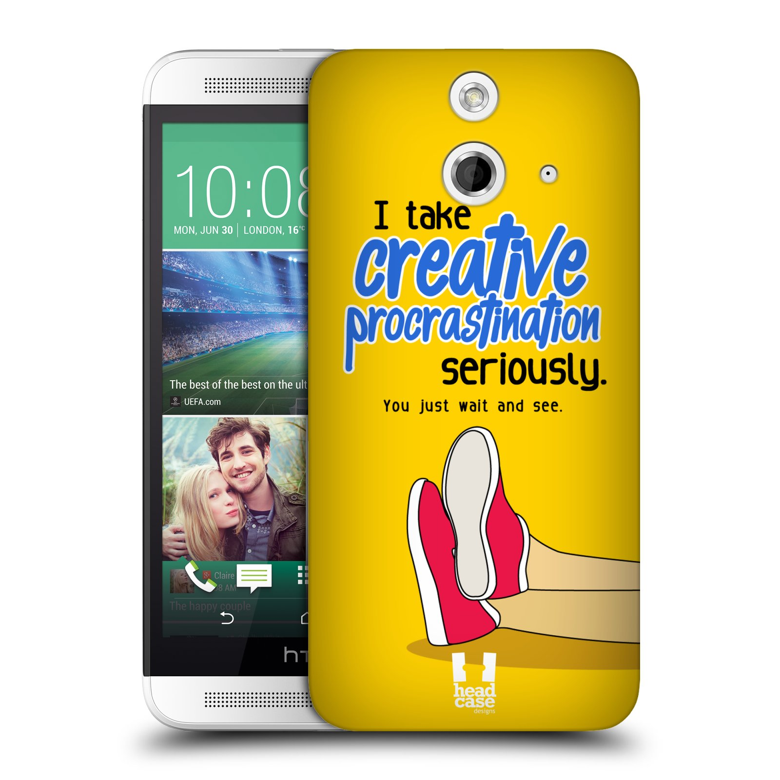 HEAD CASE DESIGNS PROCRASTINATORS HARD BACK CASE FOR HTC ONE E8 DUAL SIM