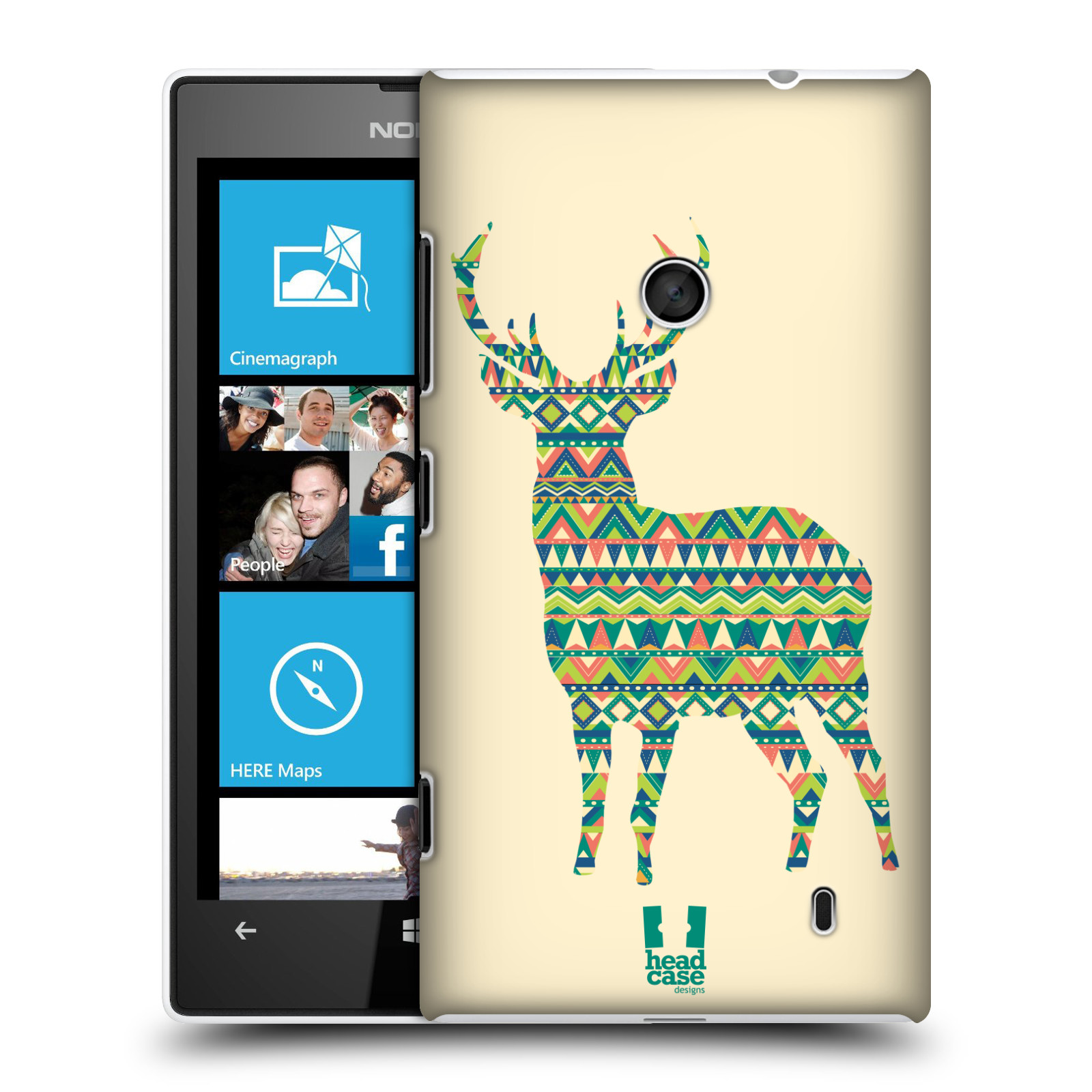 HEAD CASE DESIGNS PATTERNED ANIMAL SILHOUETTES CASE FOR NOKIA LUMIA 520