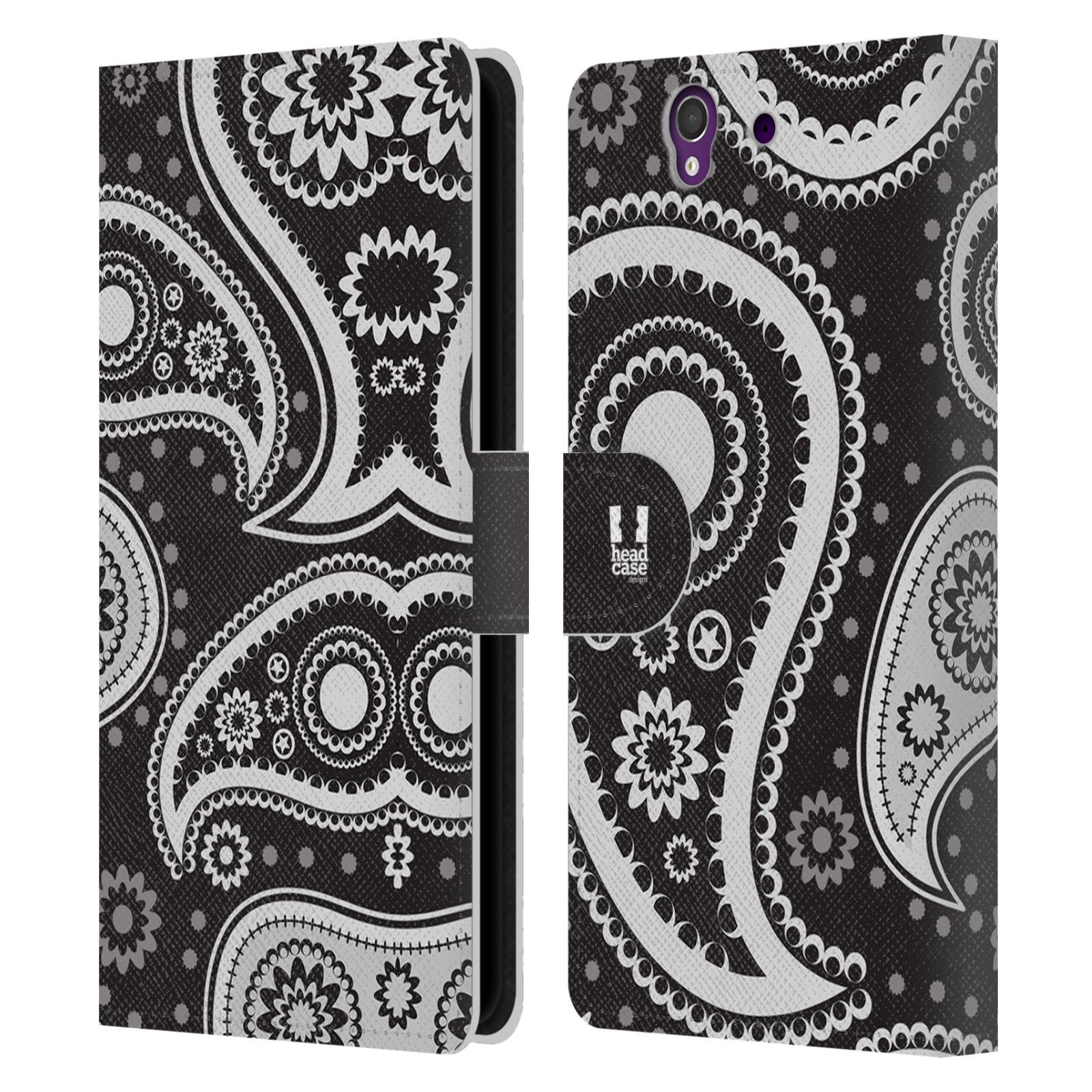 HEAD CASE Flipové pouzdro pro mobil SONY XPERIA Z (C6603) barevné slzy černá a bílá