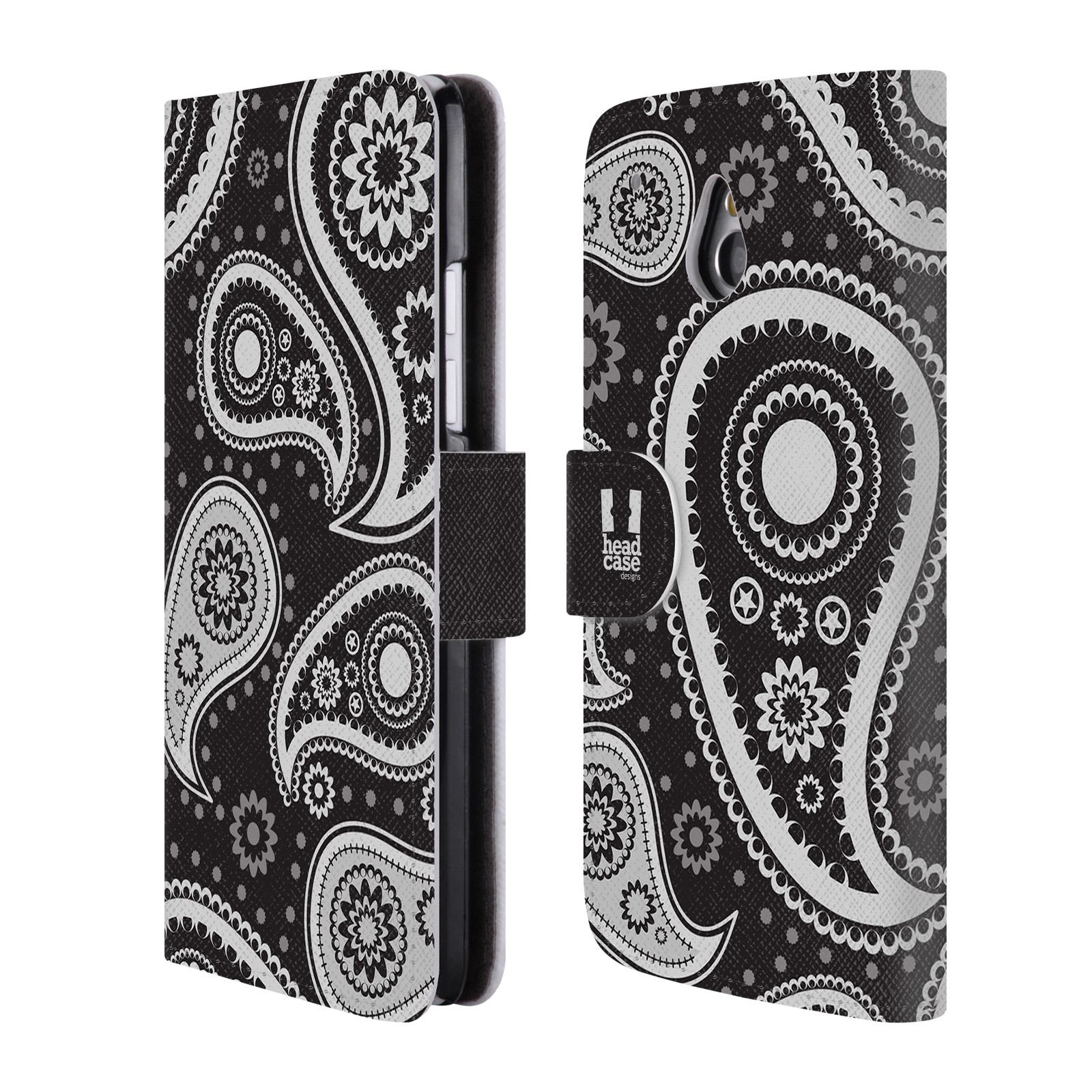 HEAD CASE Flipové pouzdro pro mobil HTC ONE MINI (M4) barevné slzy černá a bílá