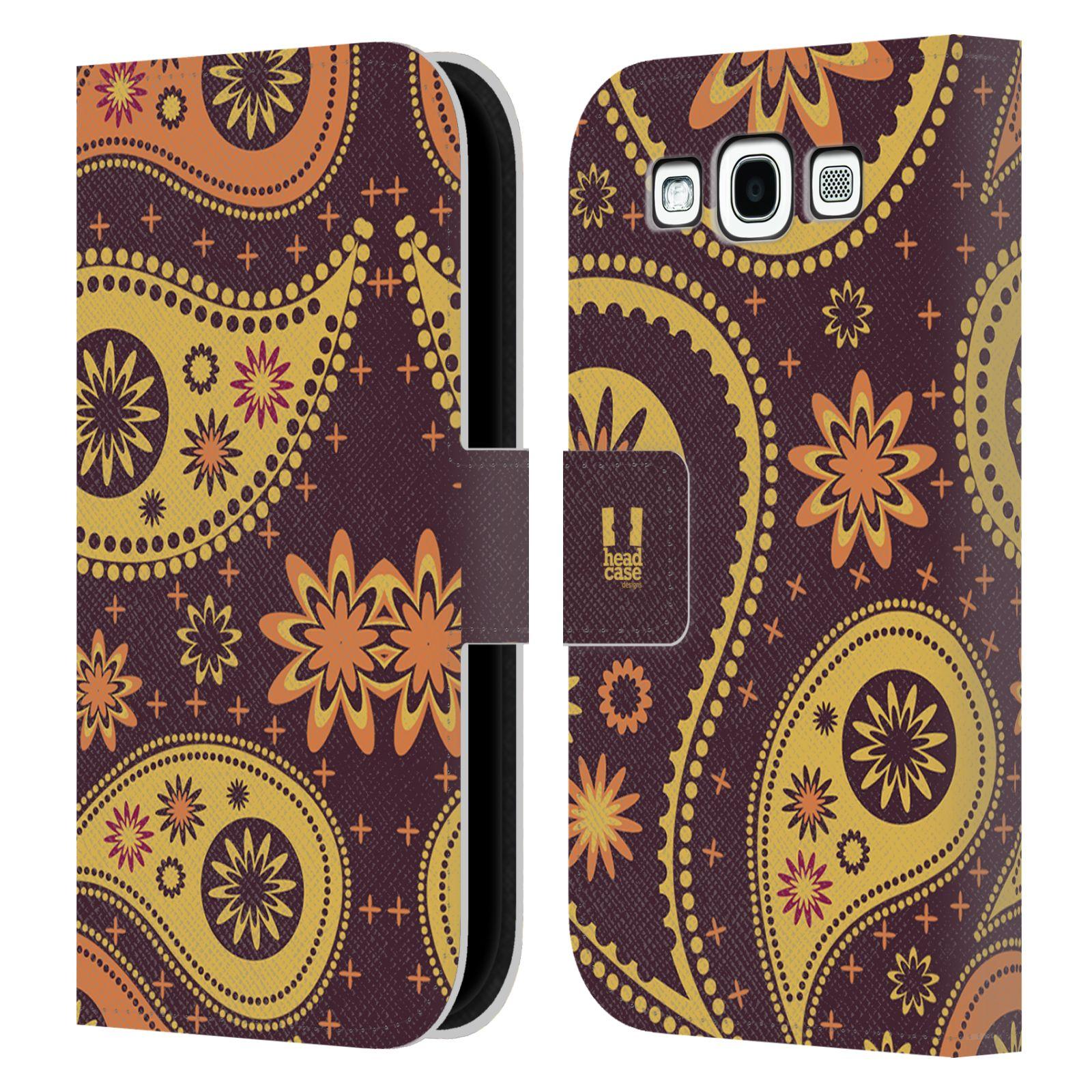 HEAD CASE Flipové pouzdro pro mobil Samsung Galaxy S3 barevné slzy švestková