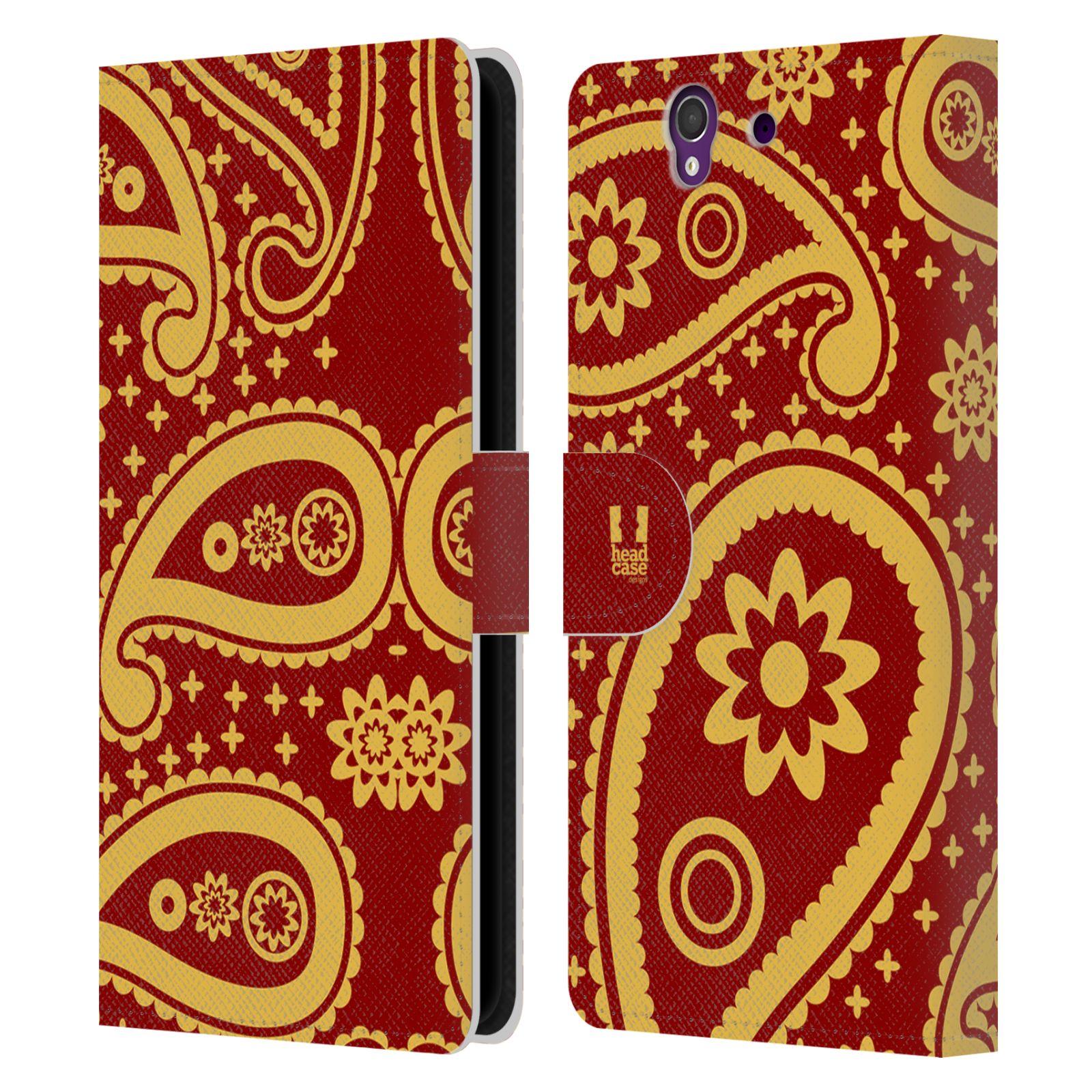 HEAD CASE Flipové pouzdro pro mobil SONY XPERIA Z (C6603) barevné slzy červená a žlutá