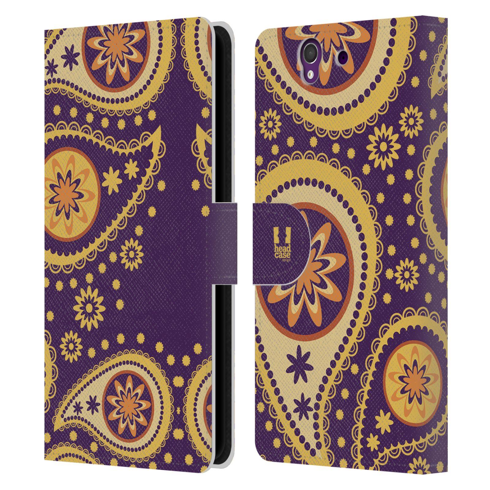 HEAD CASE Flipové pouzdro pro mobil SONY XPERIA Z (C6603) barevné slzy fialová