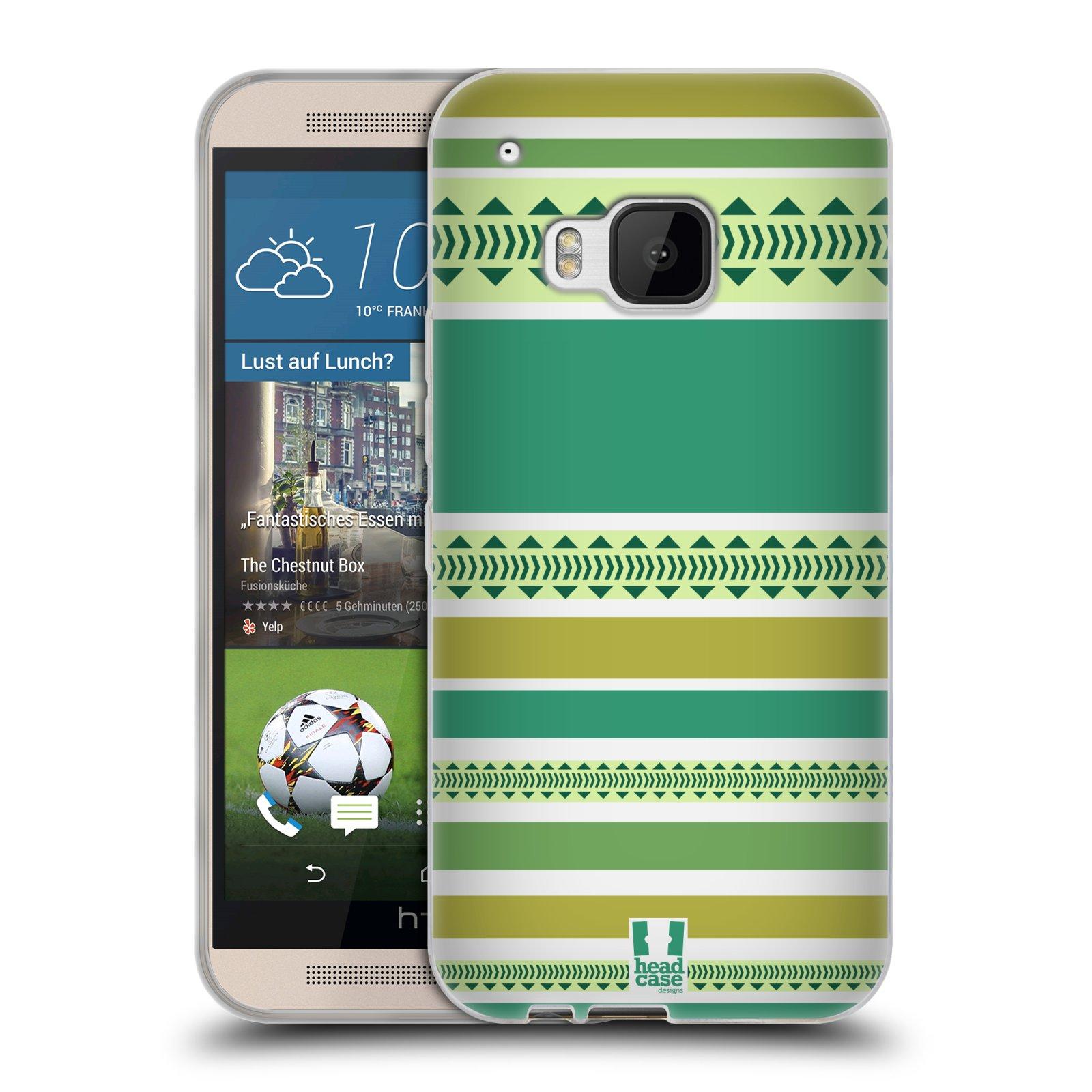 HEAD CASE DESIGNS PRINTED STRIPES SOFT GEL CASE FOR HTC PHONES 1